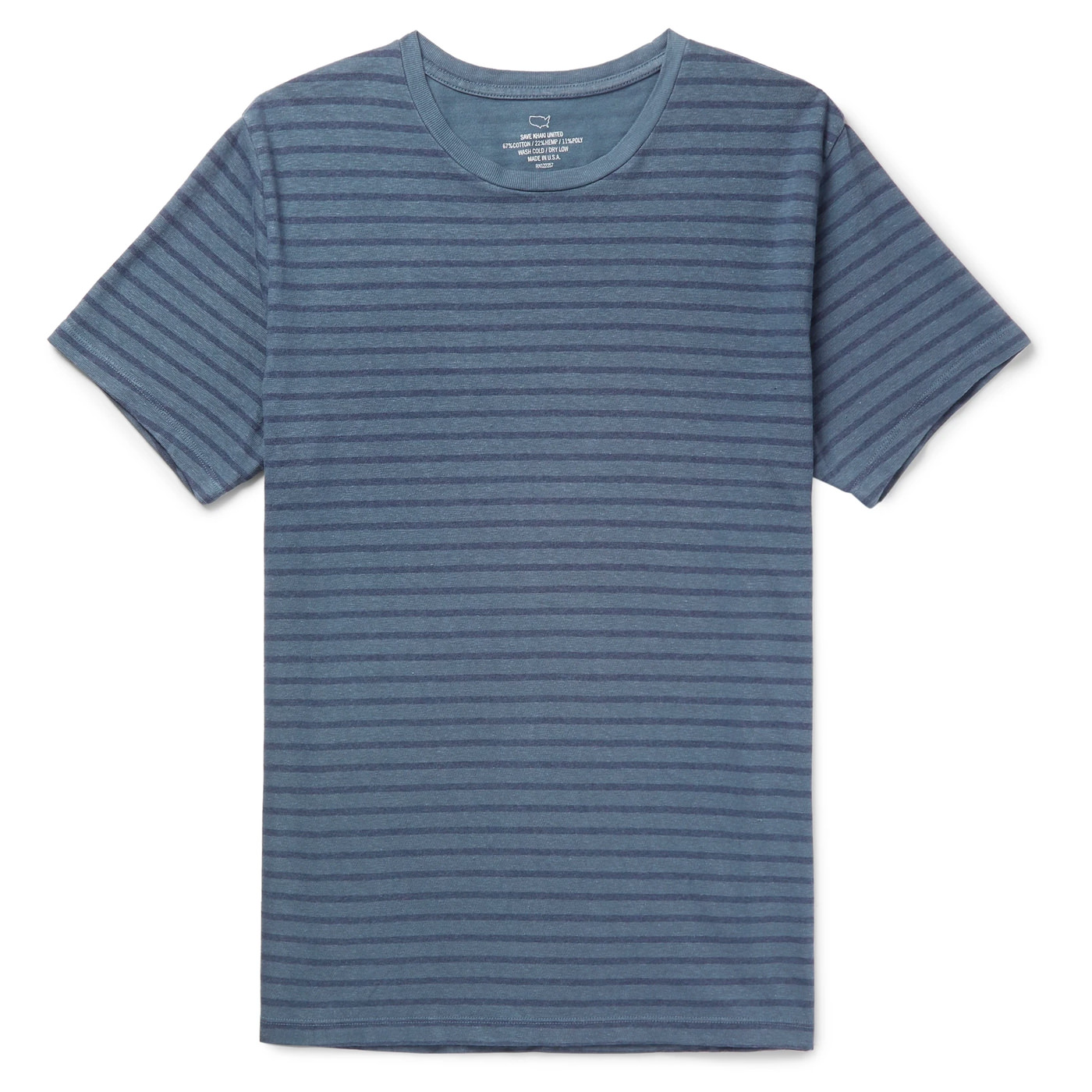 Style Mr Porter T-Shirt Save Khaki United Marin Bleu Rayé