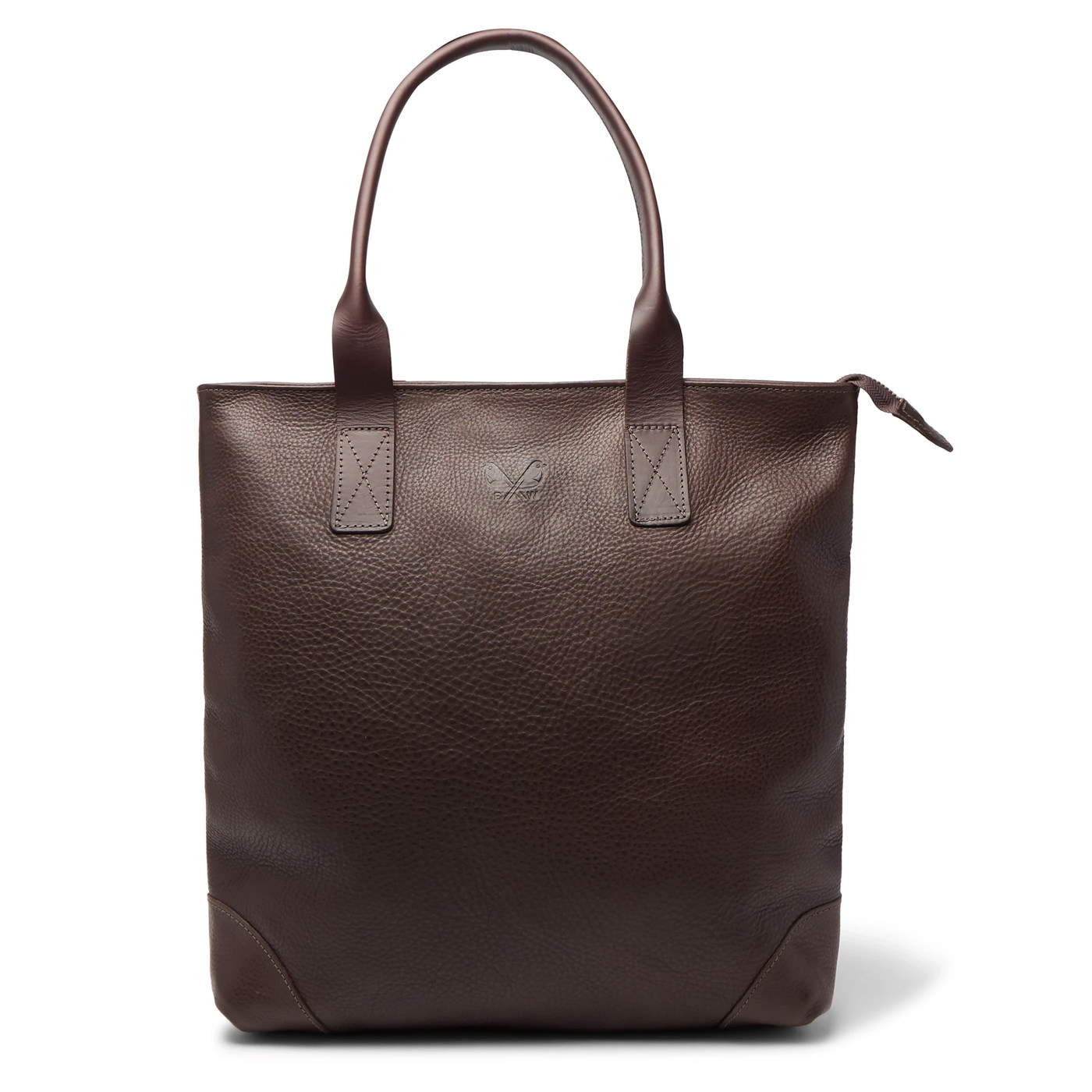 Style Mr Porter Tote Bag Bennett Winch Cuir Marron