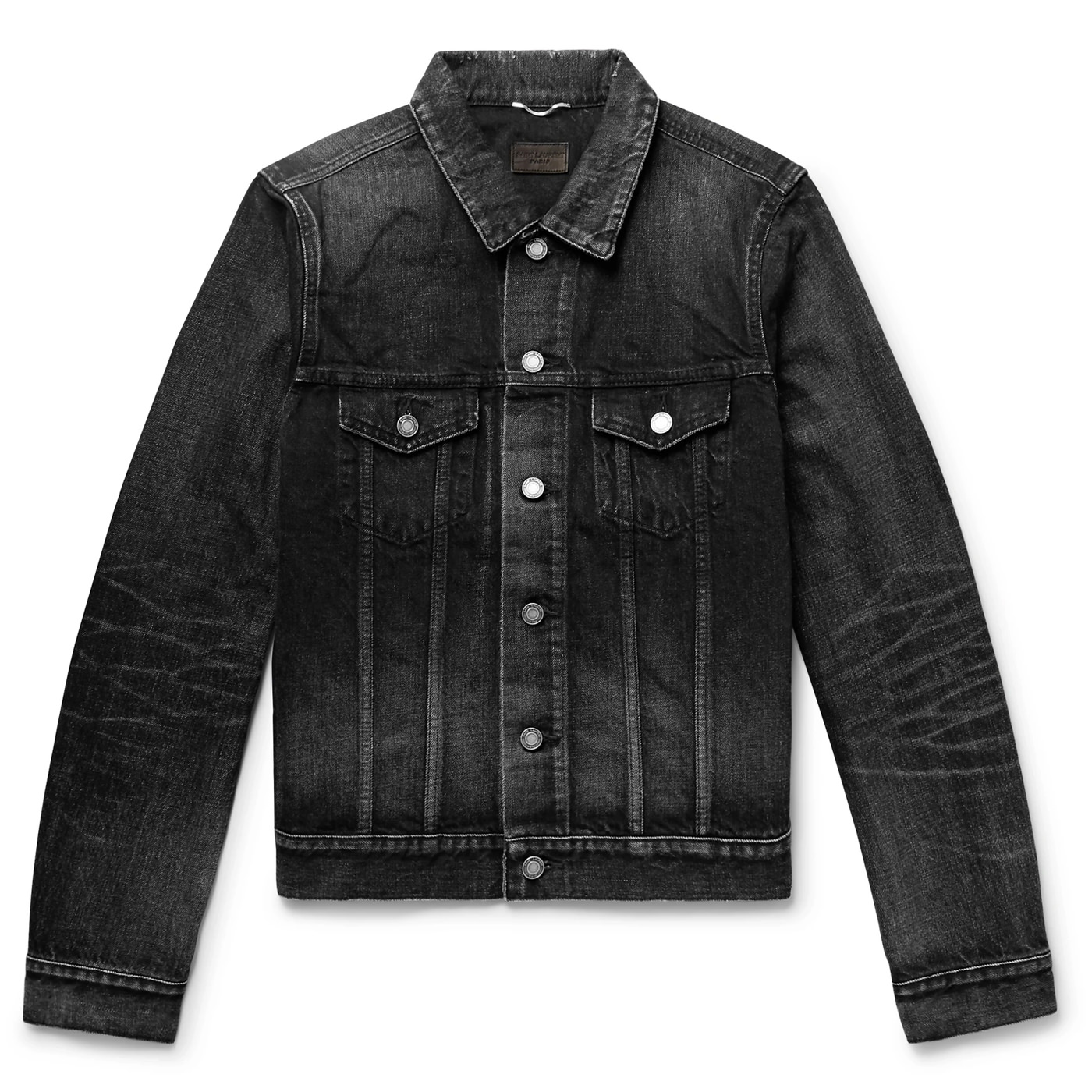 Style Mr Porter Veste Jean Noire Denim Saint Laurent