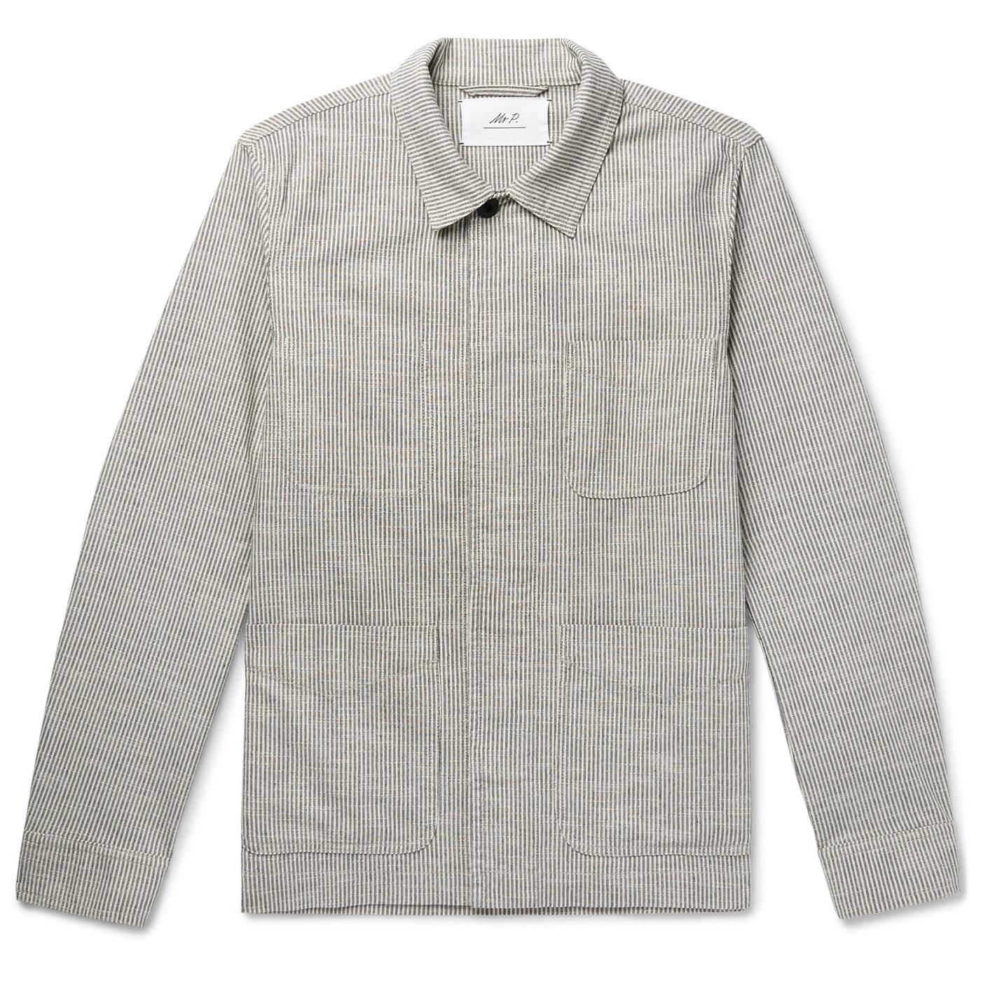 Style Mr Porter Veste Mr P. Chore Jacket Grise Rayée