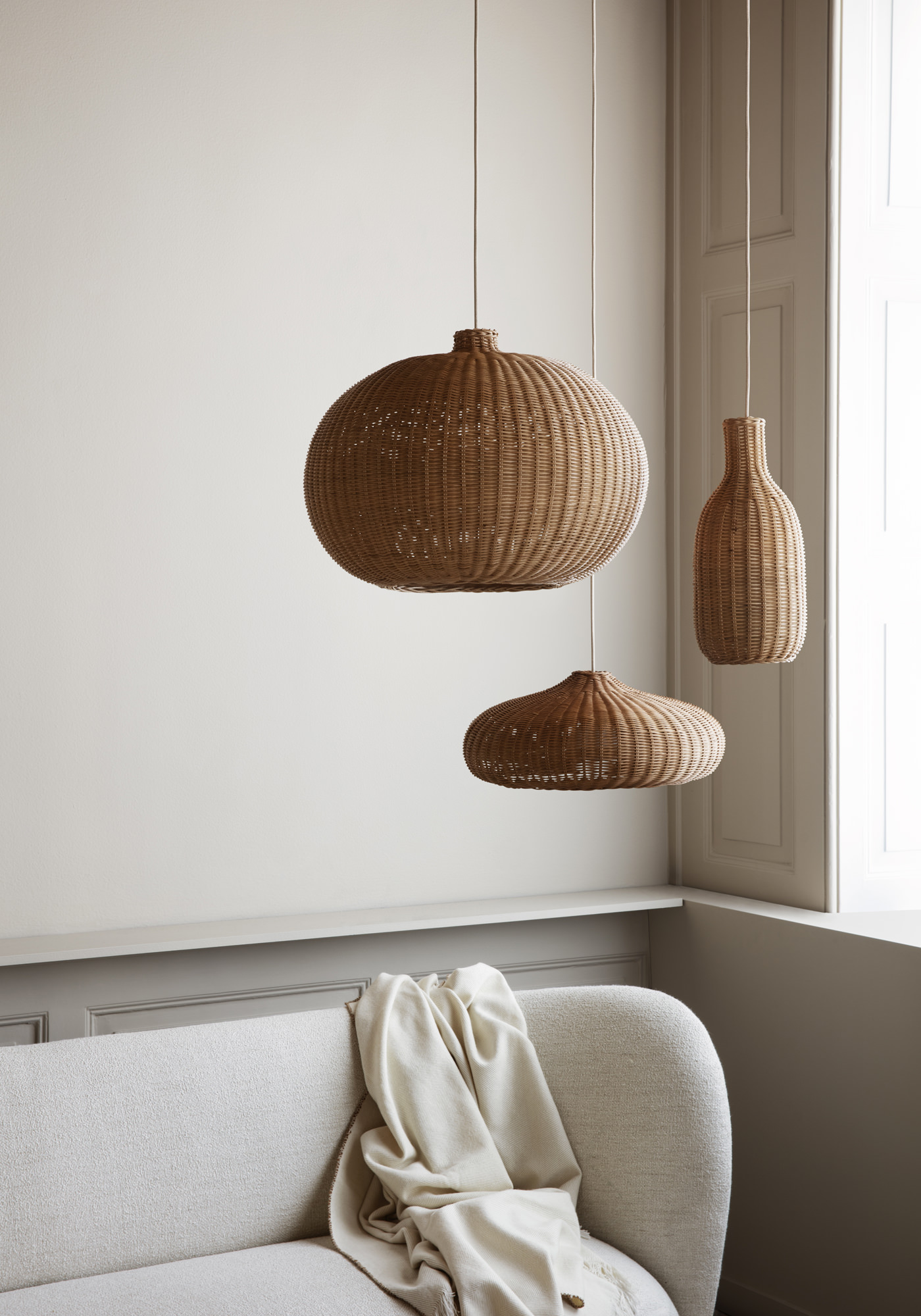 Ferm Living Collection AW19 Luminaires Vanneries
