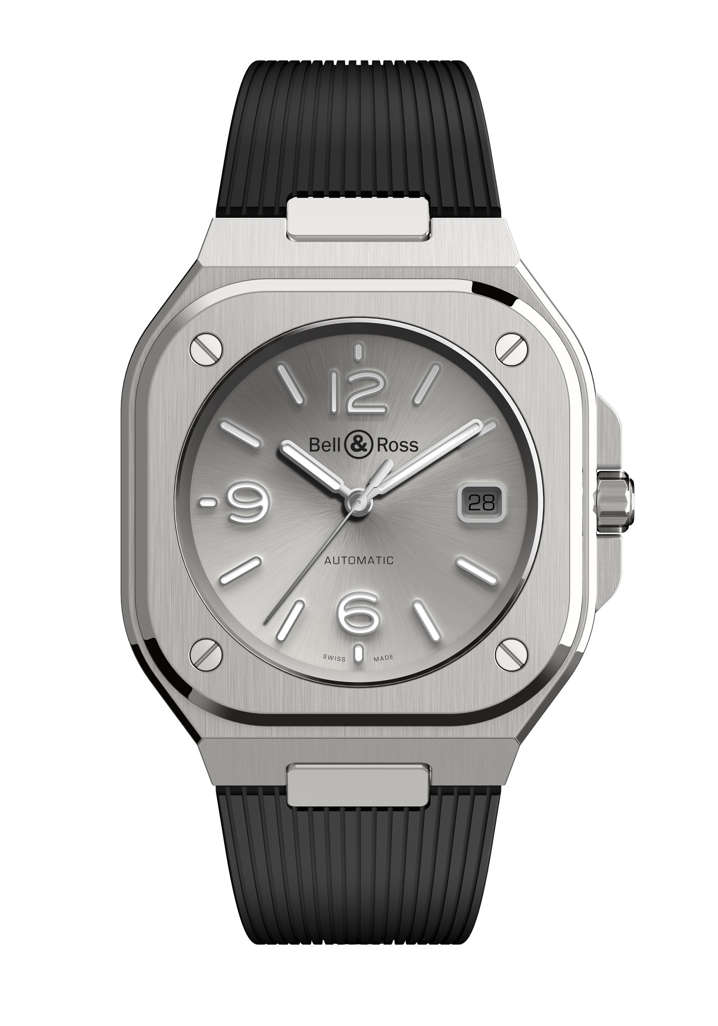 Montre Bell & Ross Nouvelle Collection BR05 Gris Caoutchouc