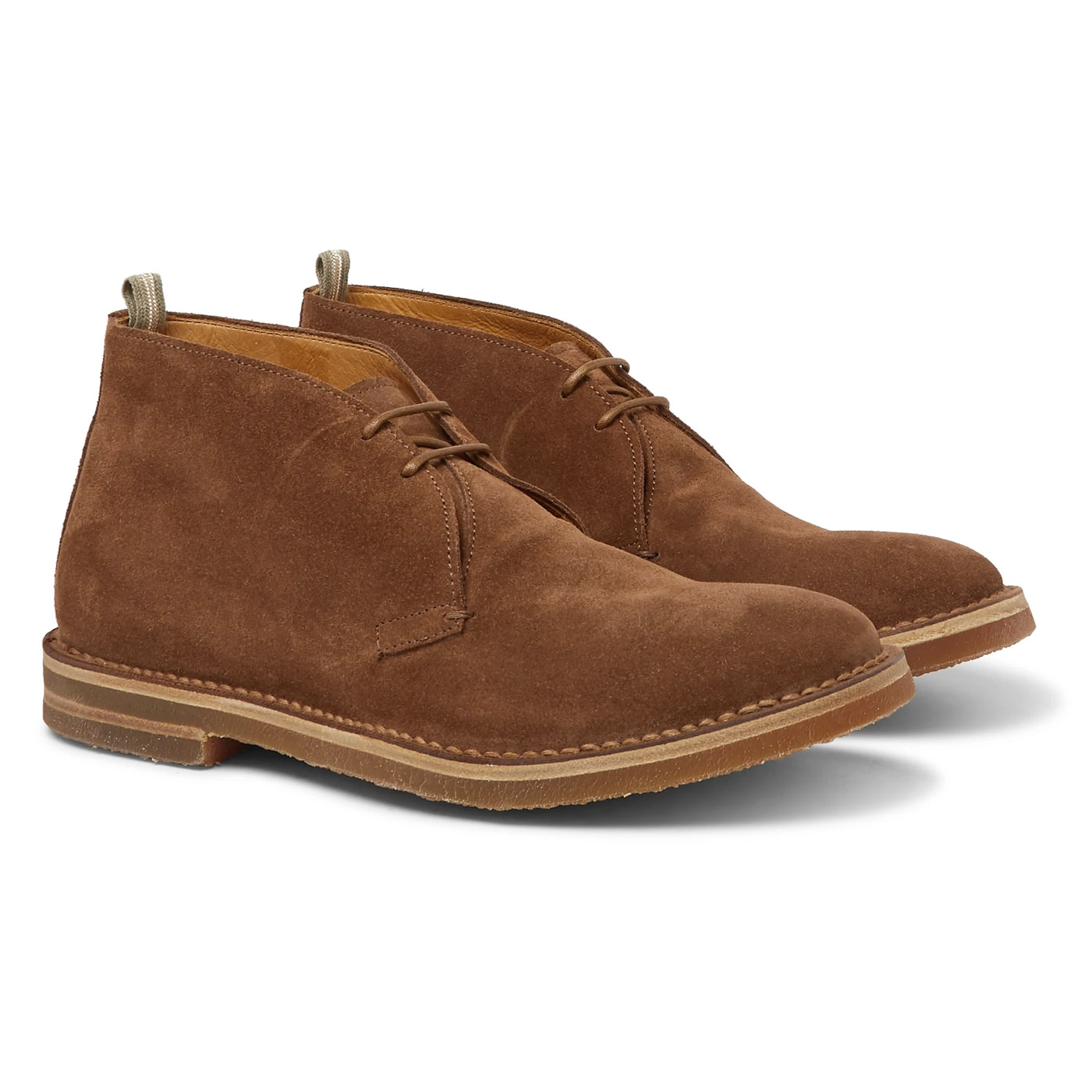 Style Mr Porter Chaussures Boots Daim Officine Creative Marron