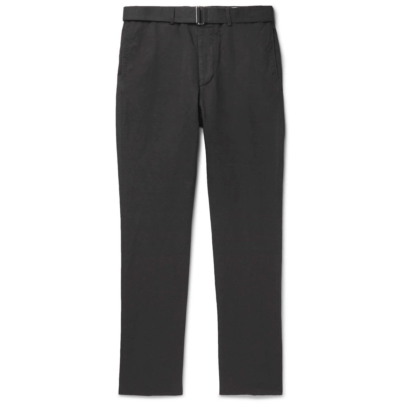 Style Mr Porter Pantalon Officine Générale Gris Coton Lin