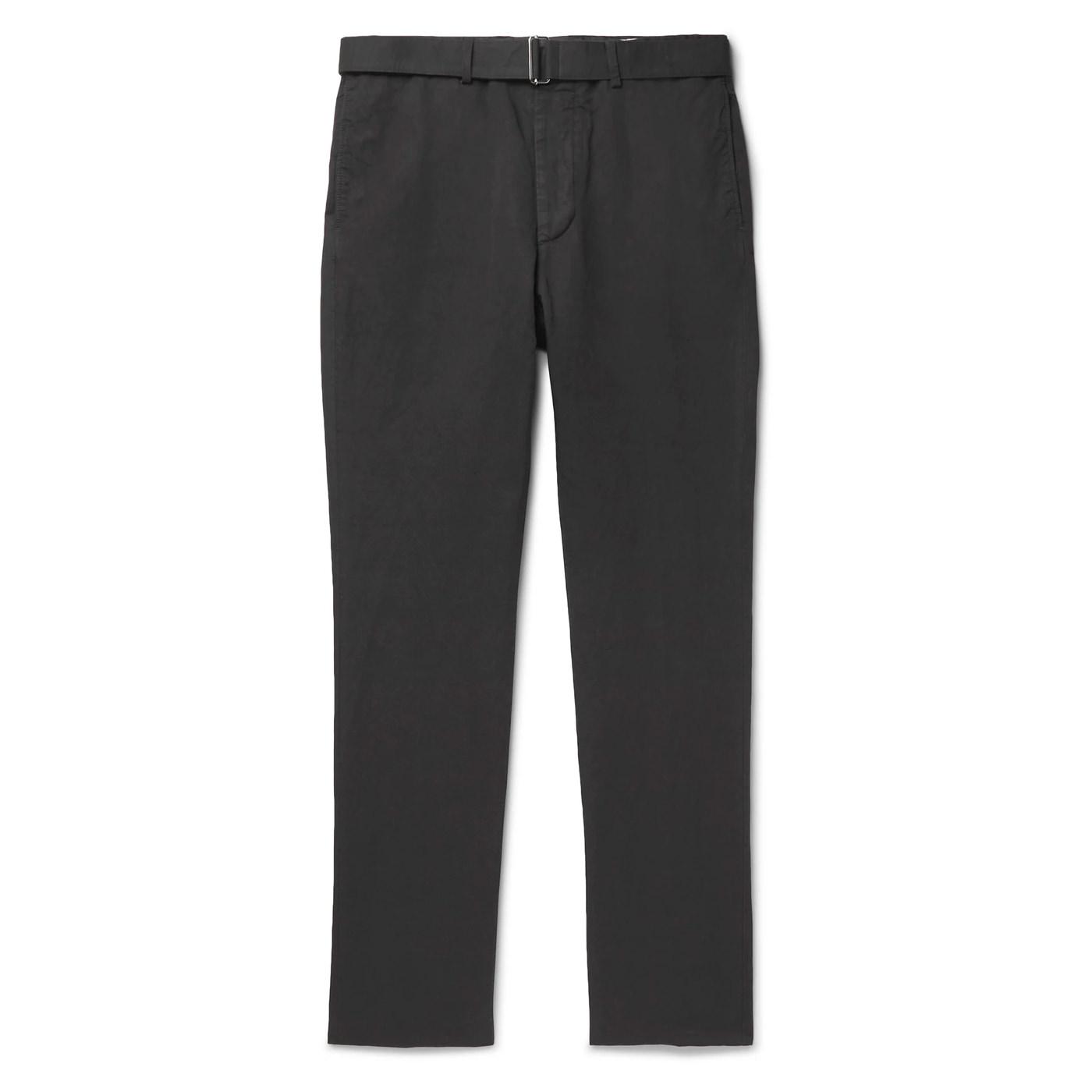 Style Mr Porter Pantalon Officine Generale Gris Lin Coton