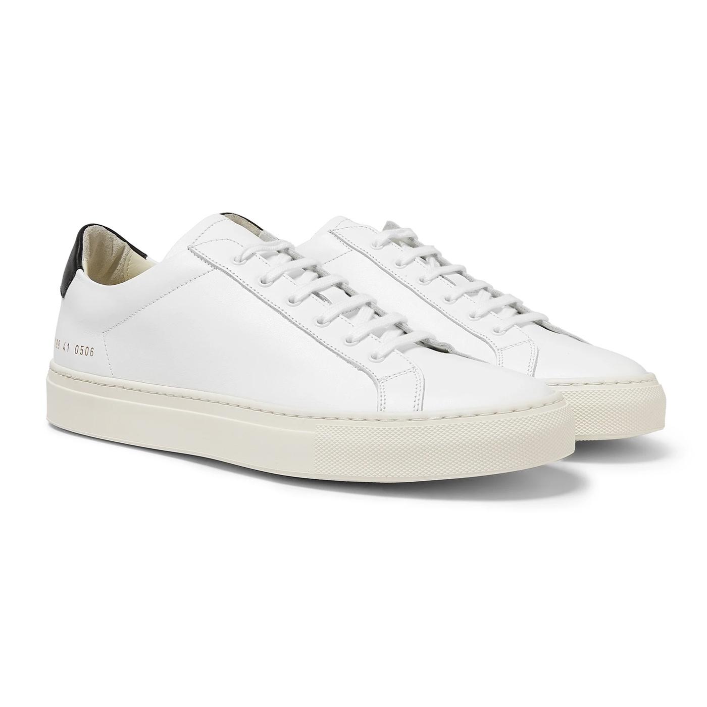 Style Mr Porter Sneakers Common Projects Original Achilles Cuir Retro