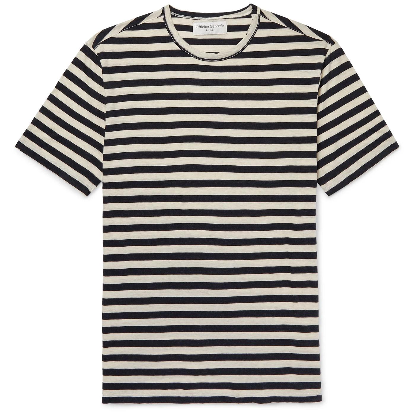 Style Mr Porter T-Shirt Marin Officine Générale