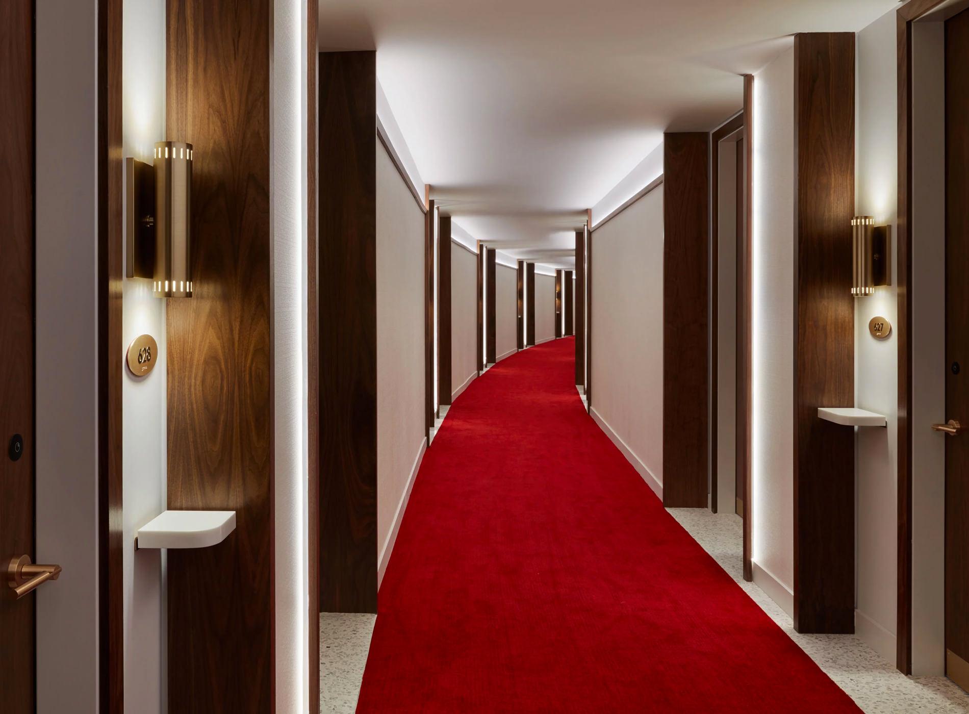 TWA Hotel New York JFK Airport TWA Flight Center Couloirs