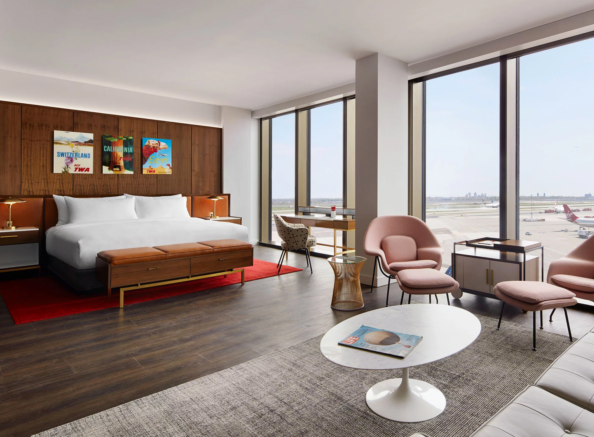TWA Hotel New York JFK Airport TWA Flight Center Eero Saarinen Presidential Suite With Historic TWA View