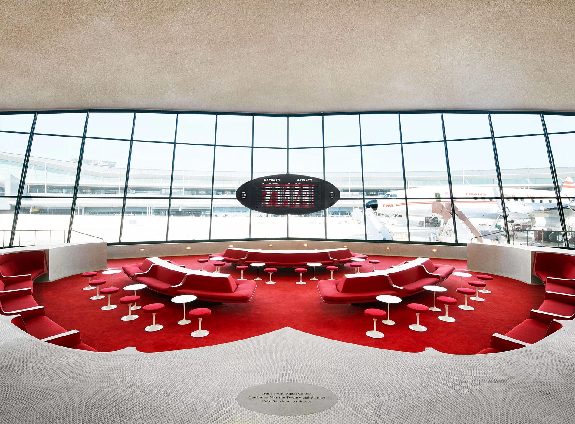 TWA Hotel New York JFK Airport TWA Flight Center The Sunken Lounge