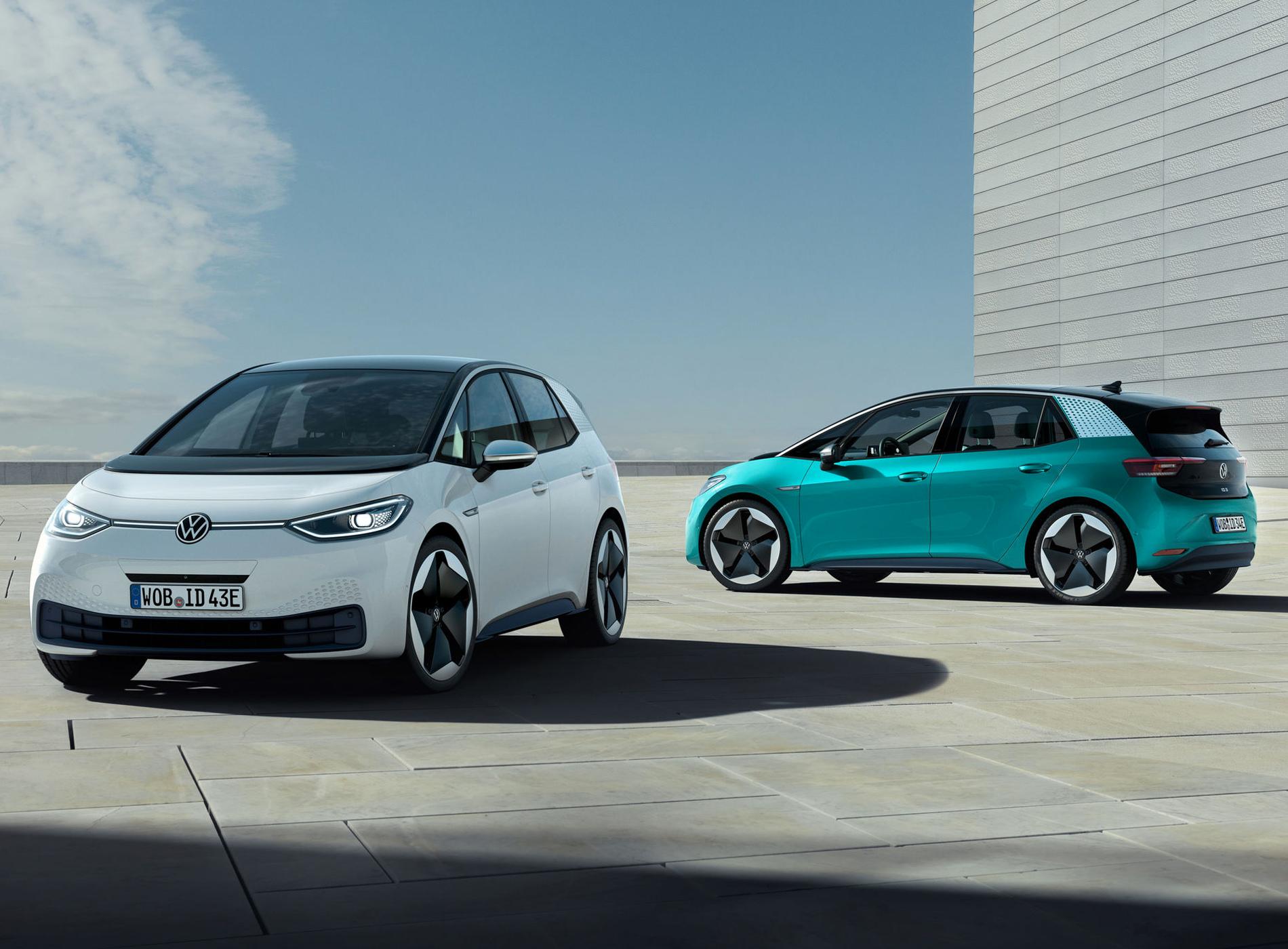 Volkswagen ID.3 Voiture Electrique Double Modèles Extérieur