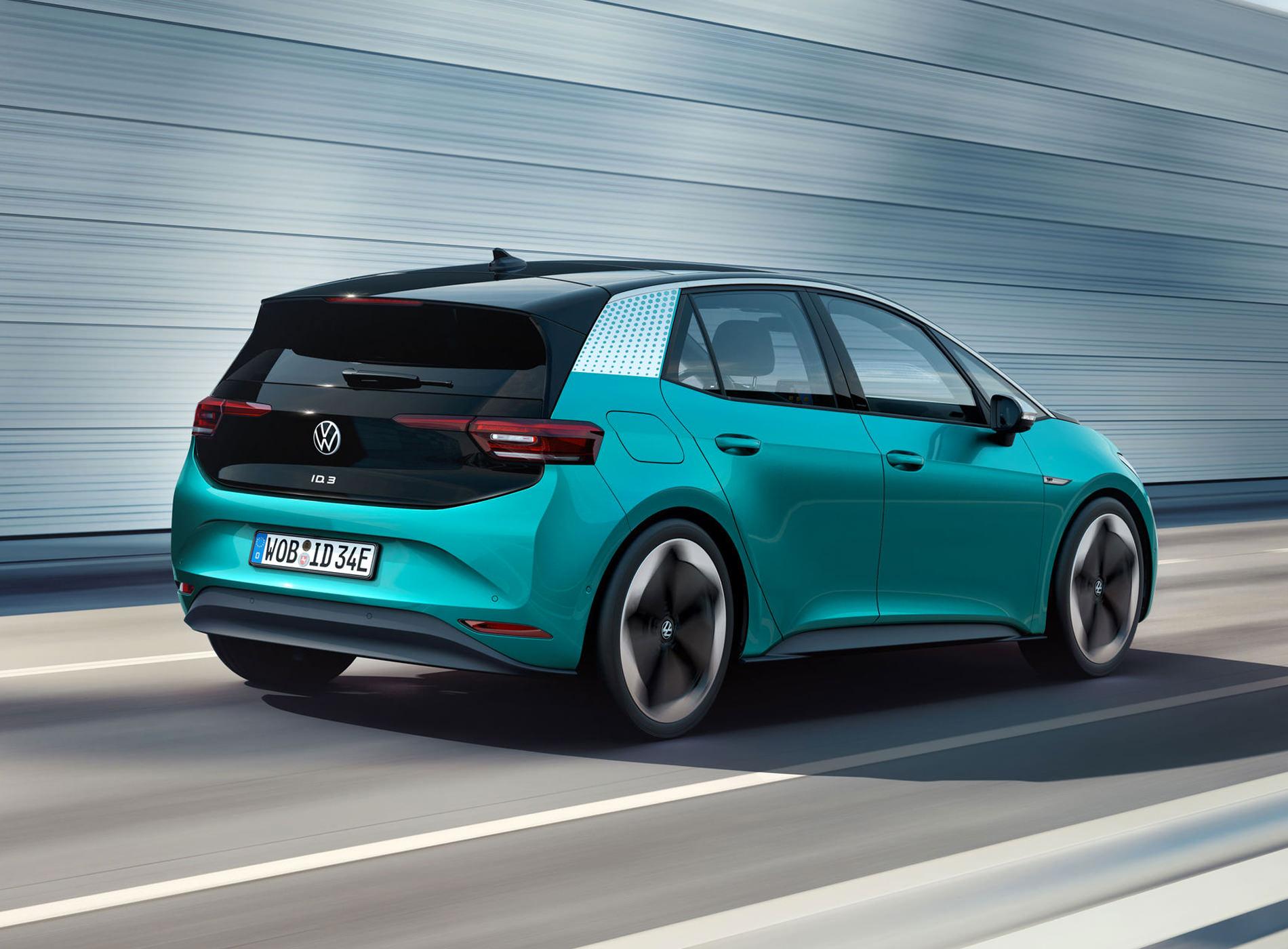 Volkswagen ID.3 Voiture Electrique Face Arrière
