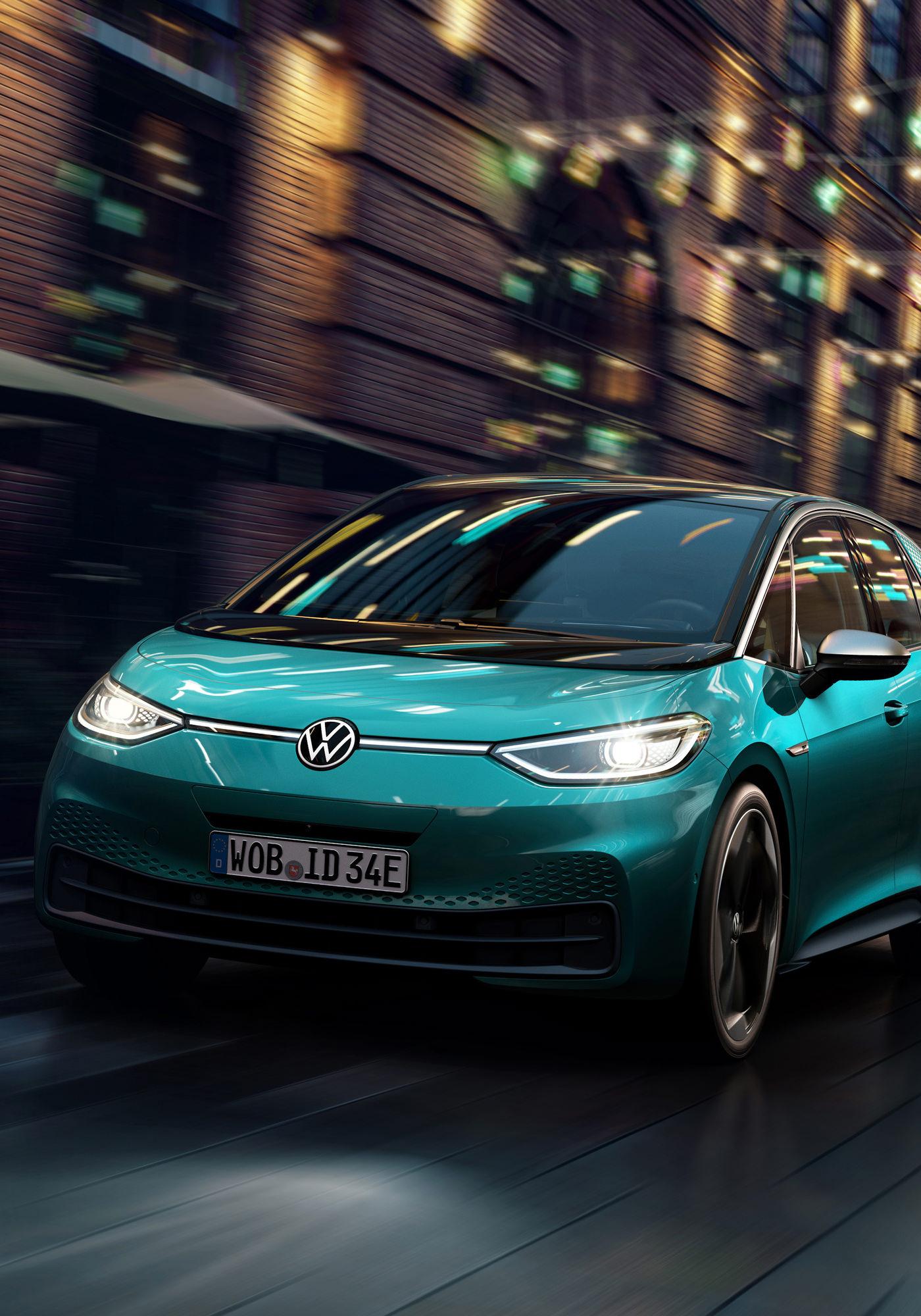 Volkswagen ID.3 Voiture Electrique Nocturne Avant