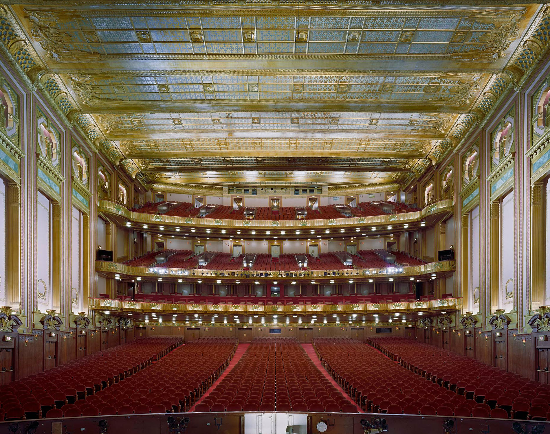 David Leventi Serie Photographie Opera Civic Opera House Chicago Etats-Unis 2009