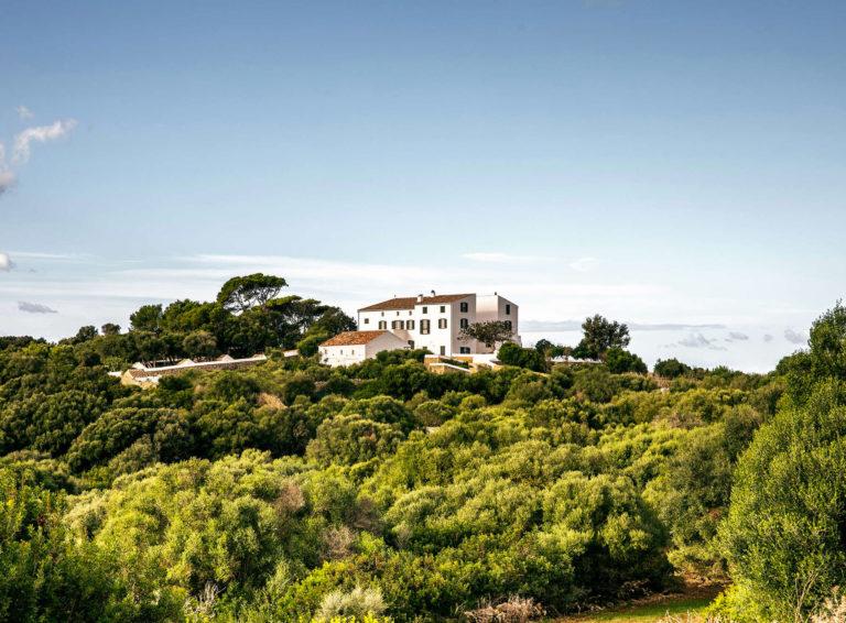 Minorque Baléares Espagne Architecture Location Vacances Es Bec D'Aguila Arrière Pays