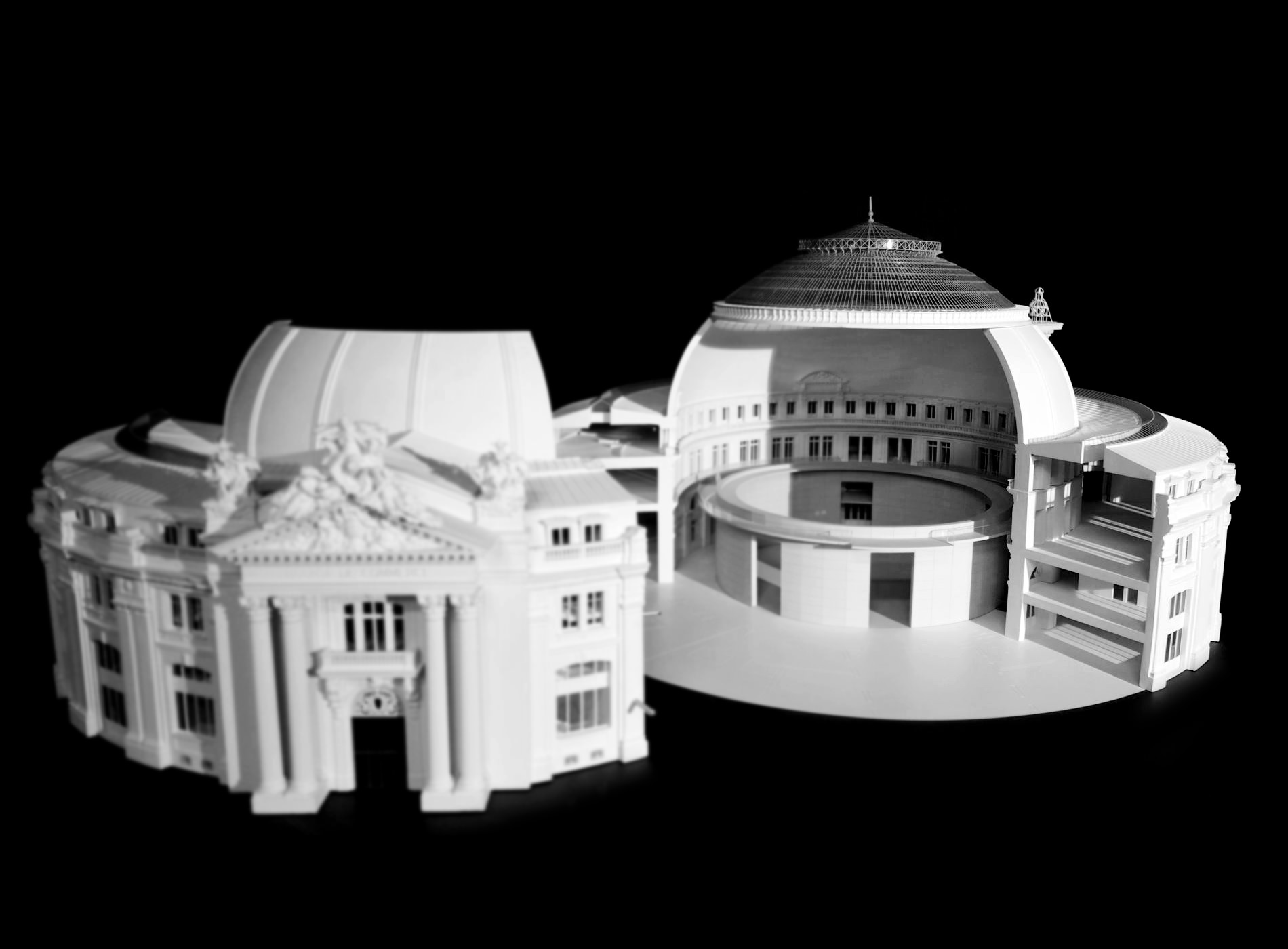 Bourse Commerce Paris Collection Pinault Maquette Volume Tadao Ando