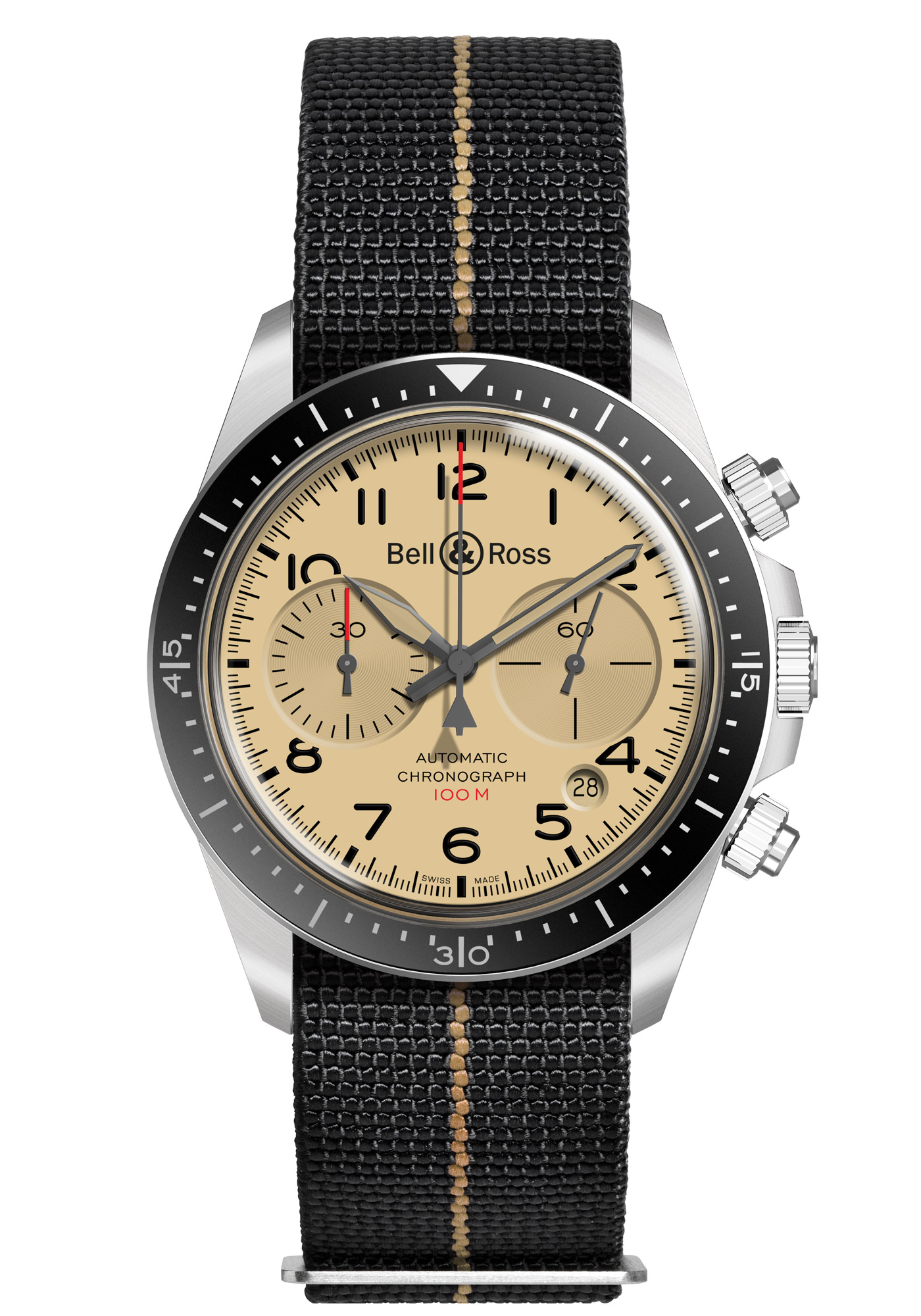 Montre Bell & Ross Collection BR V2 94 Military Beige (Nato)