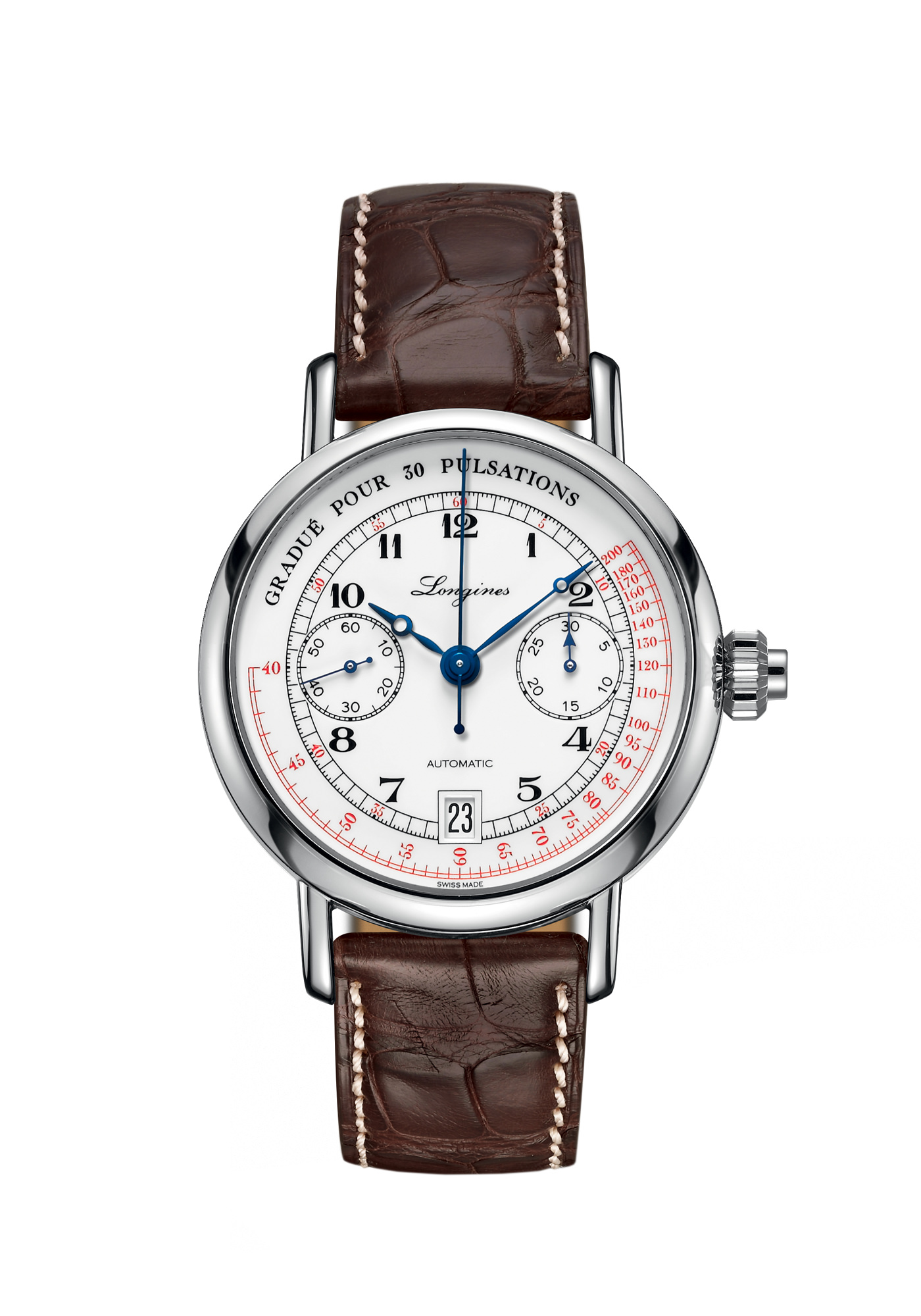 Montre Longines Collection Heritage Pulsometer Chronograph