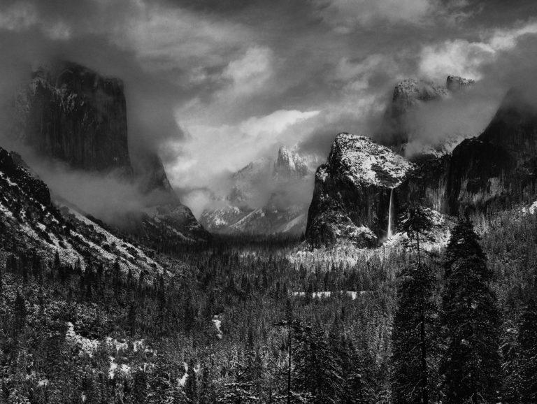Ansel Adams Clearing Winter Storm Yosemite National Park California 1944