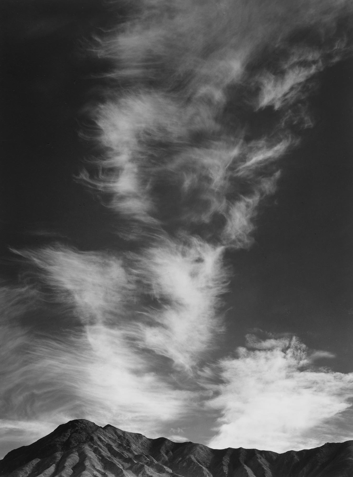 Ansel Adams Clouds Above Golden Canyon Death Valley California 1946