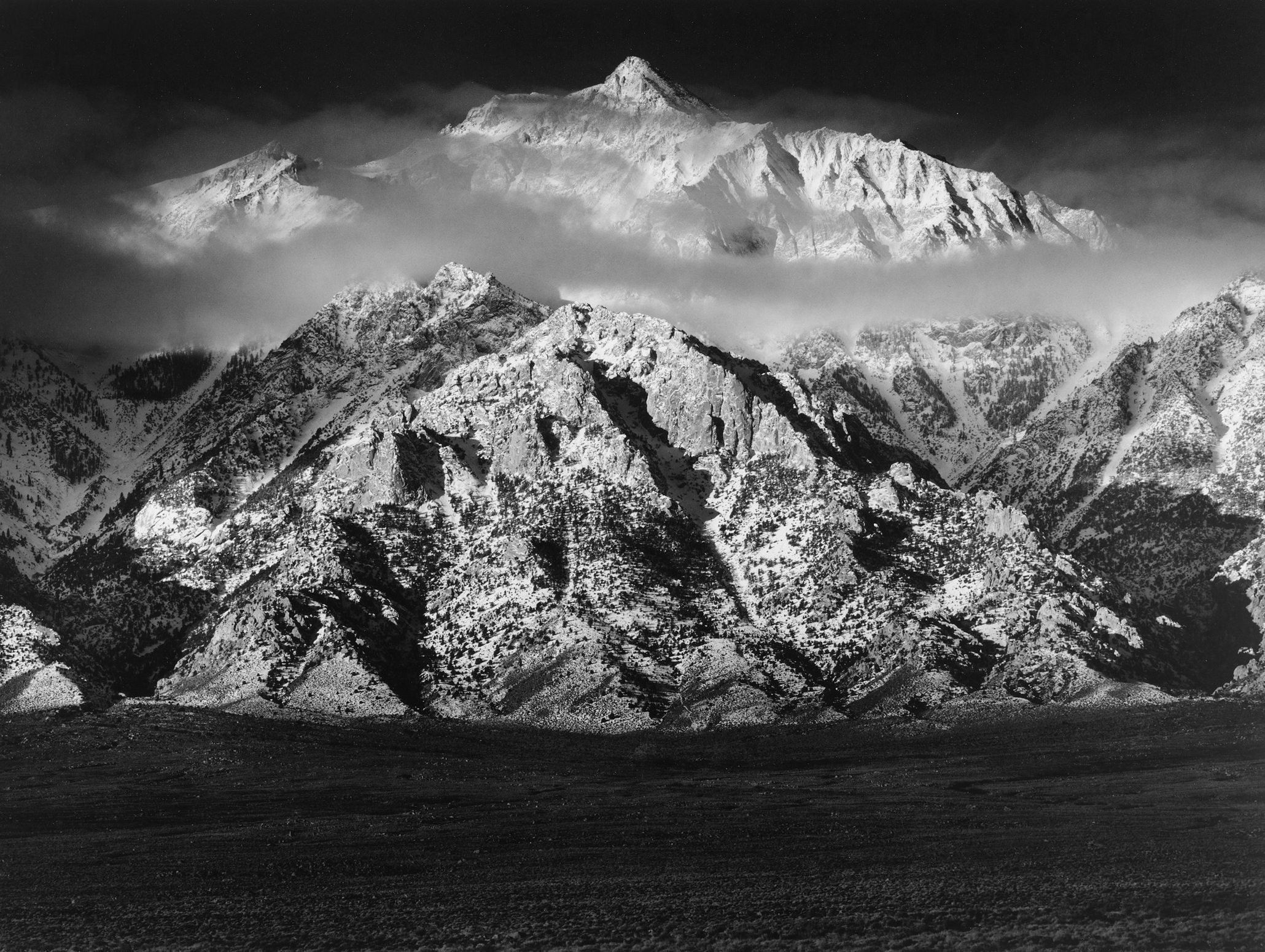 Ansel Adams Mount Williamson Sierra Nevada From The Owens Valley California 1944