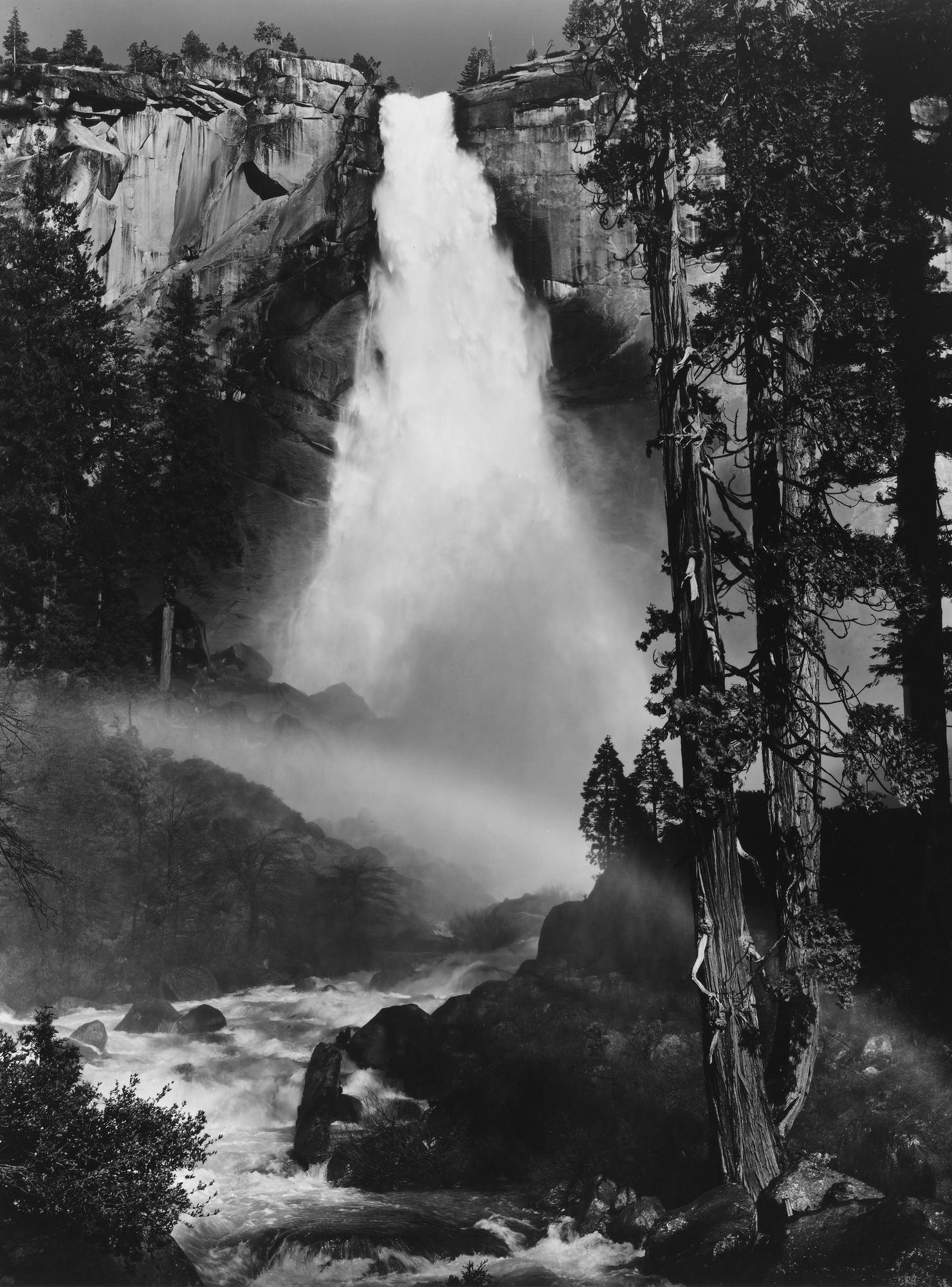 Ansel Adams Nevada Fall Rainbow 1947