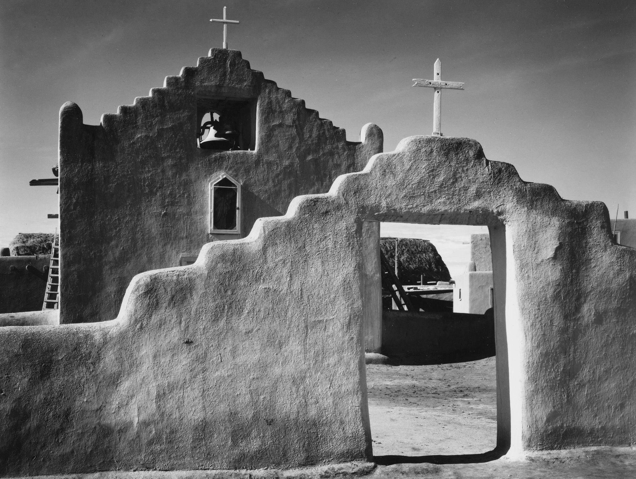 Ansel Adams New Church Taos Pueblo New Mexico v1929
