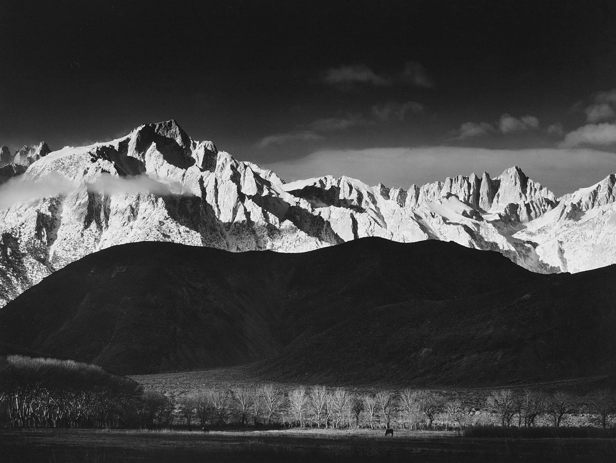 Ansel Adams Winter Sunrise Sierra Nevada From Lone Pine California 1944