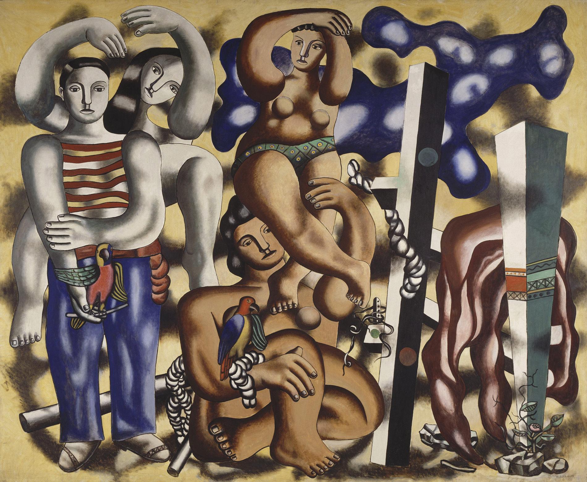 Fondation Louis Vuitton — Fernand Léger, Composition Aux Deux Perroquets, 1935-1939