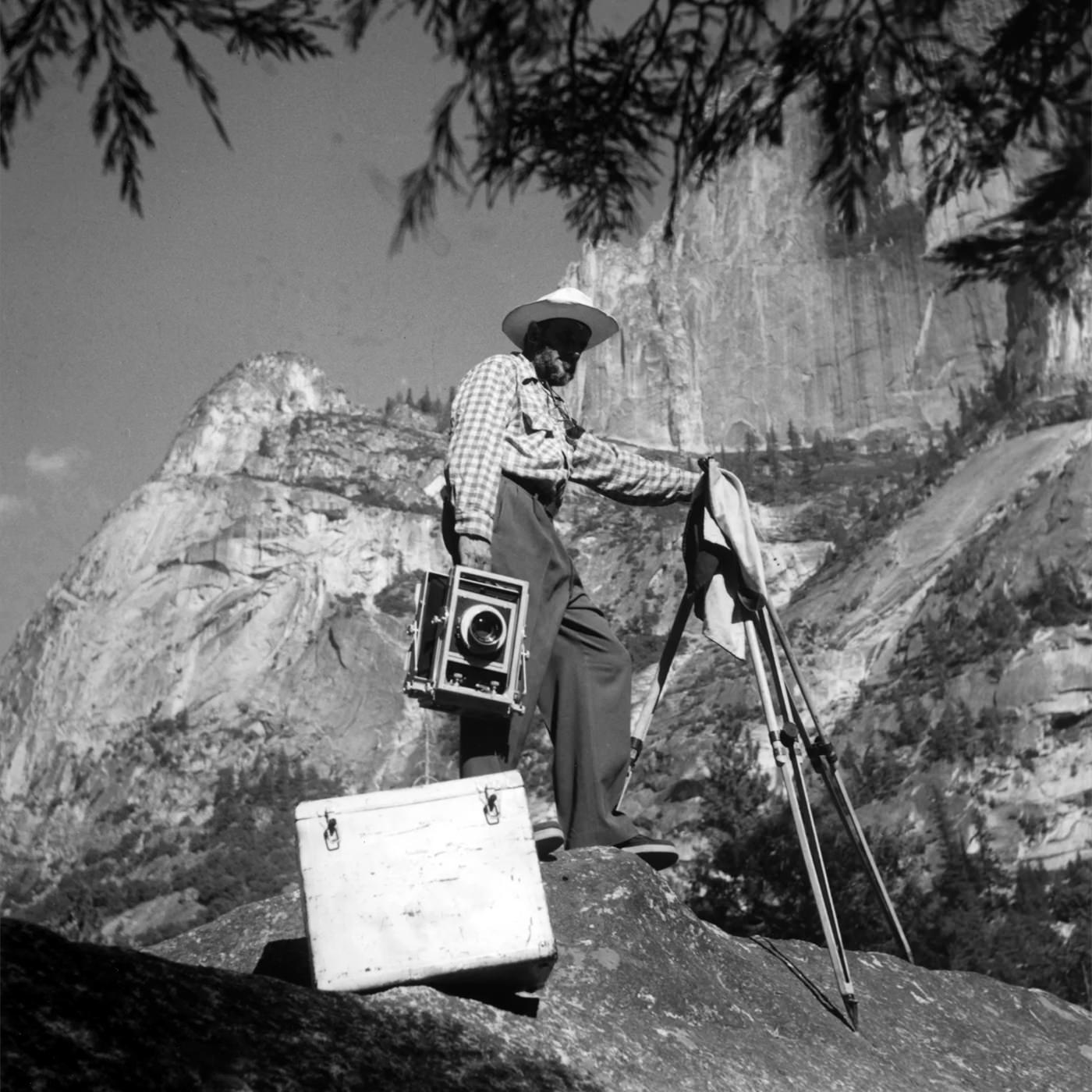 Imogen Cunningham Ansel Adams Photographing Yosemite 1953