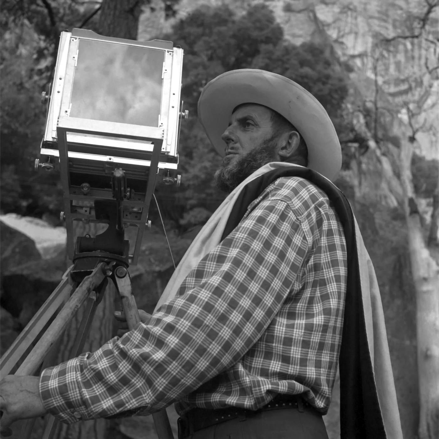 Imogen Cunningham Portrait Ansel Adams Yosemite Valley 1953