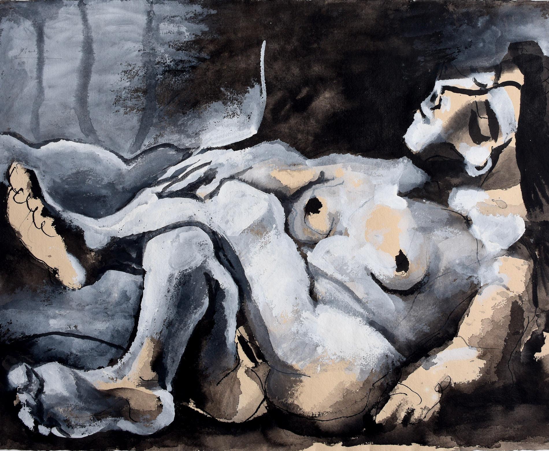 Fondation Louis Vuitton — Pablo Picasso, Femme Nue Couchée Dans Un Intérieur, 1961