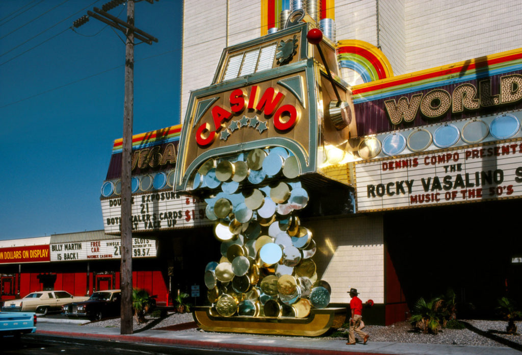 Photographie Kodachrome Harry Gruyaert Nevada Las Vegas Casino 1982