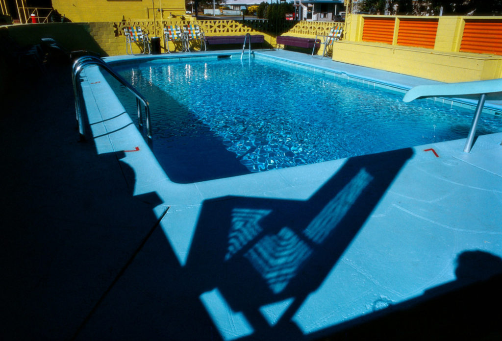 Photographie Kodachrome Harry Gruyaert Nevada Motel 1982