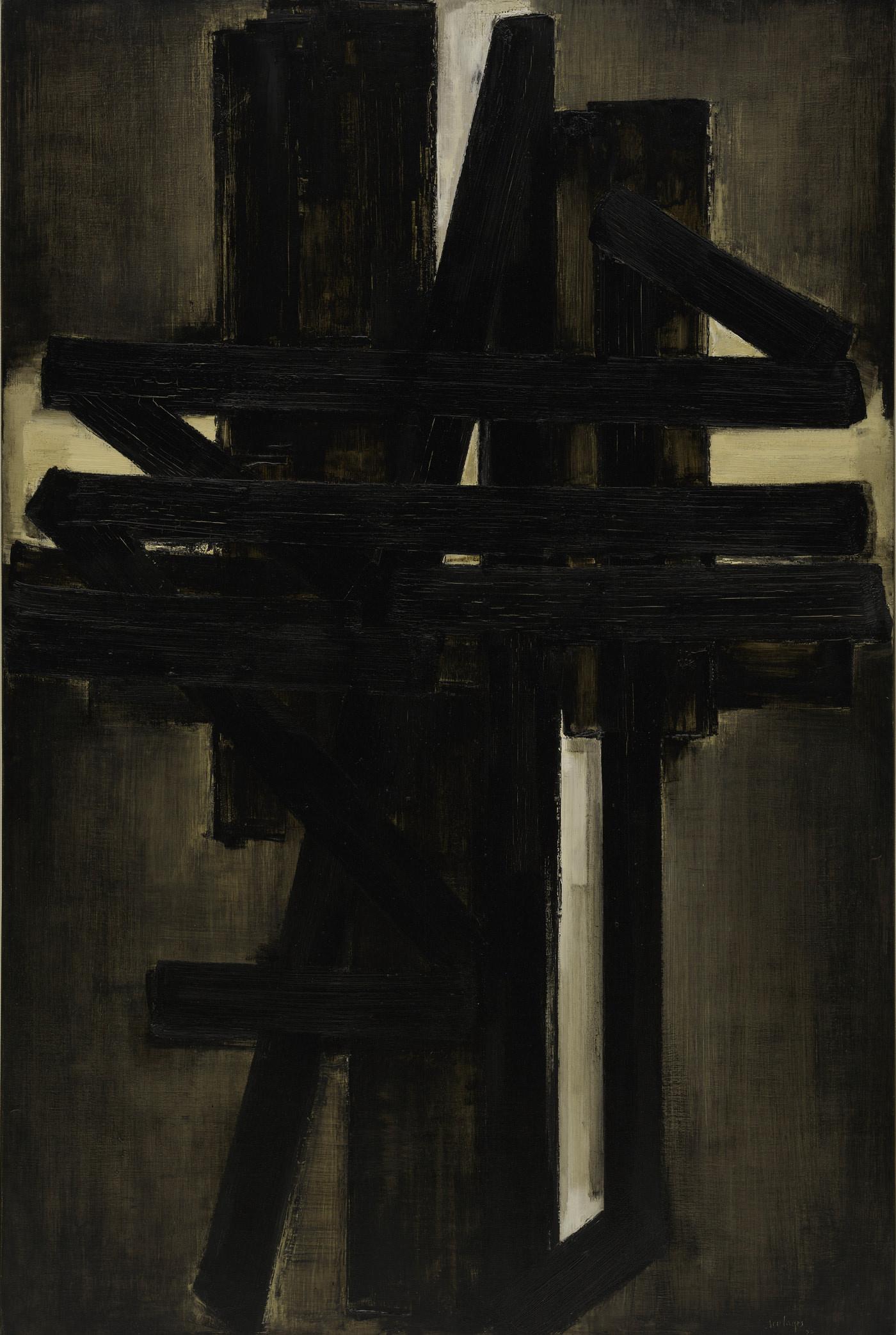Pierre Soulages Peinture 195 x 130, Mai 1953