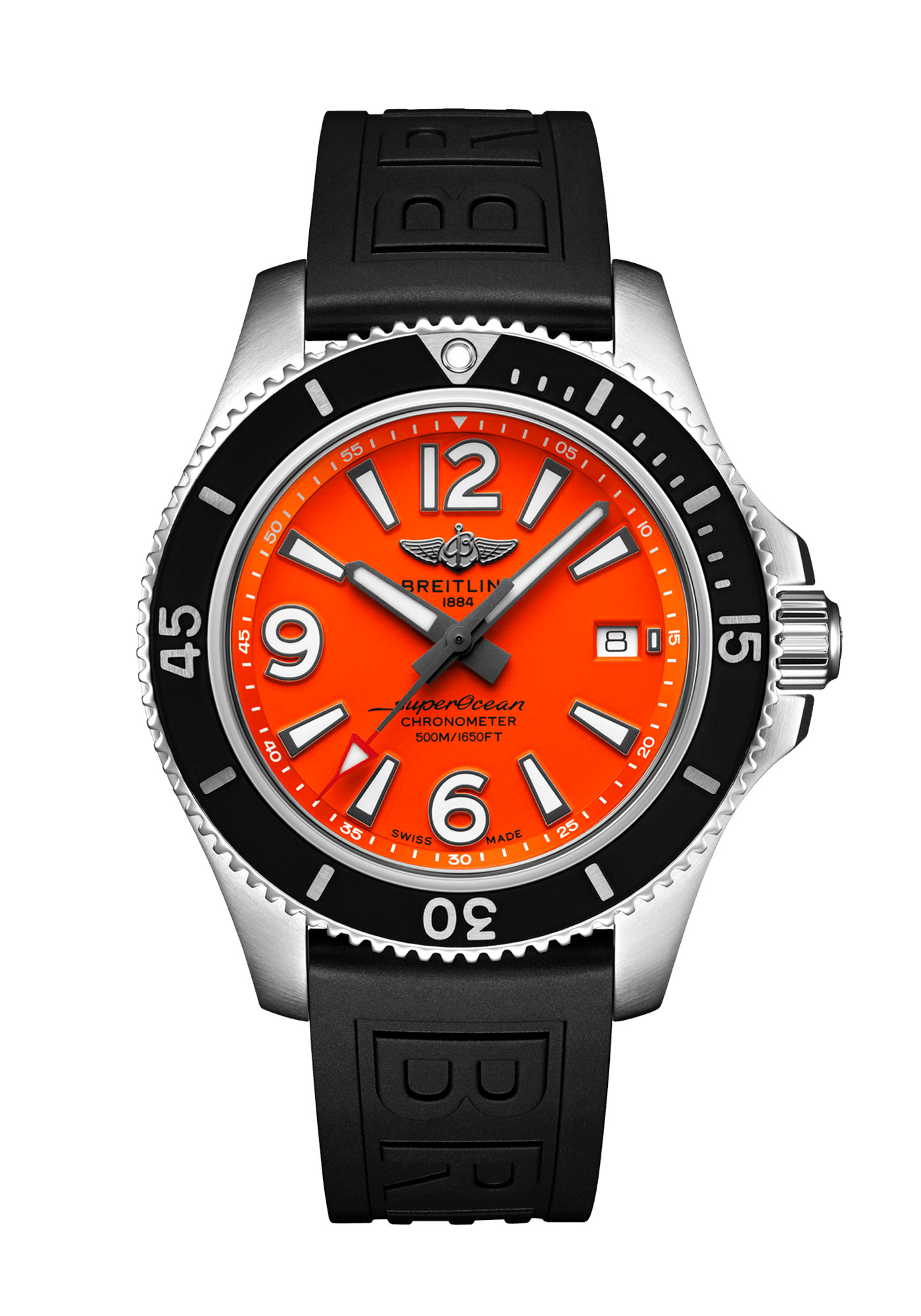 Breitling SuperOcean Automatic 42 Acier Orange