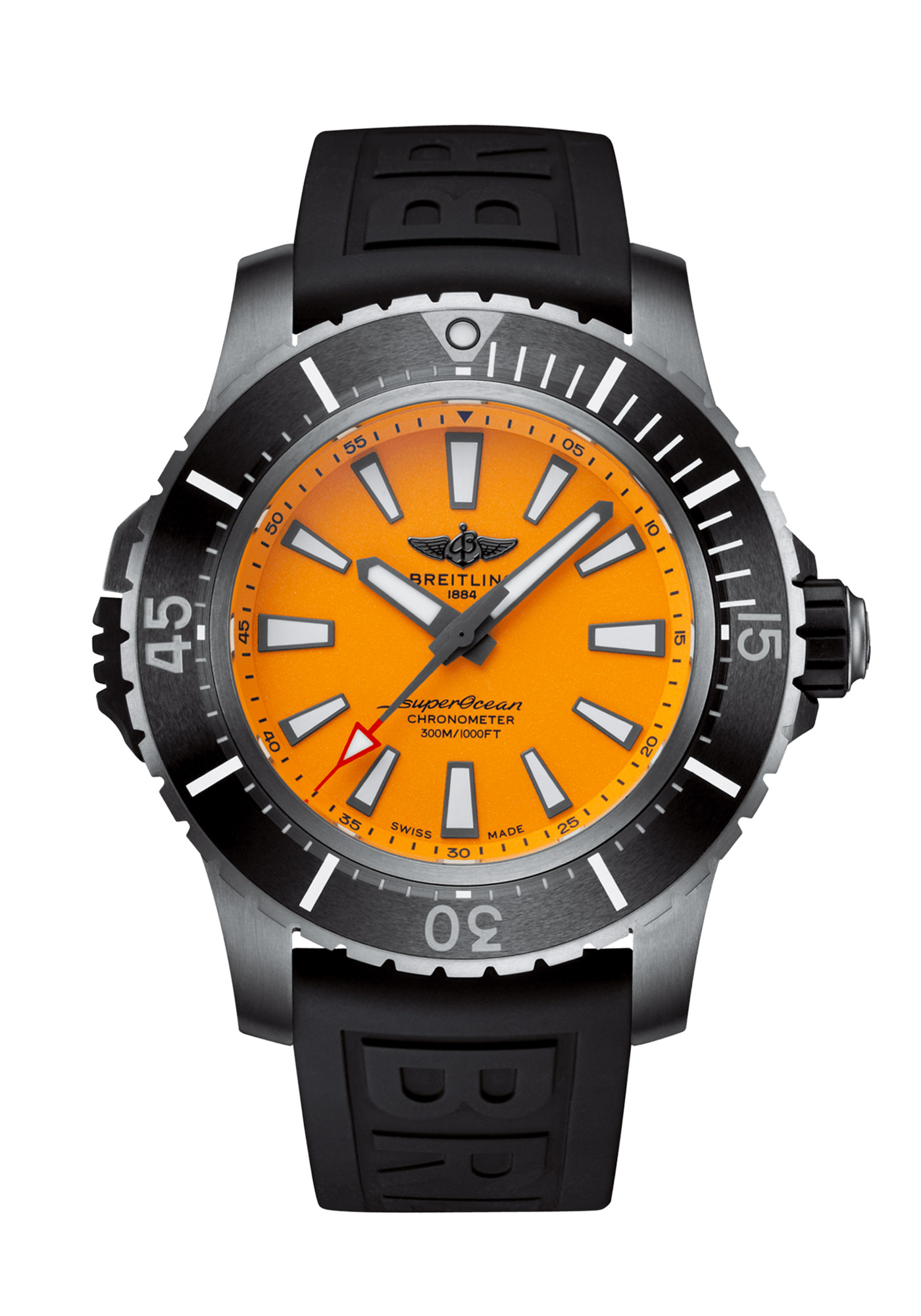 Breitling SuperOcean Automatic 48 Acier Orange