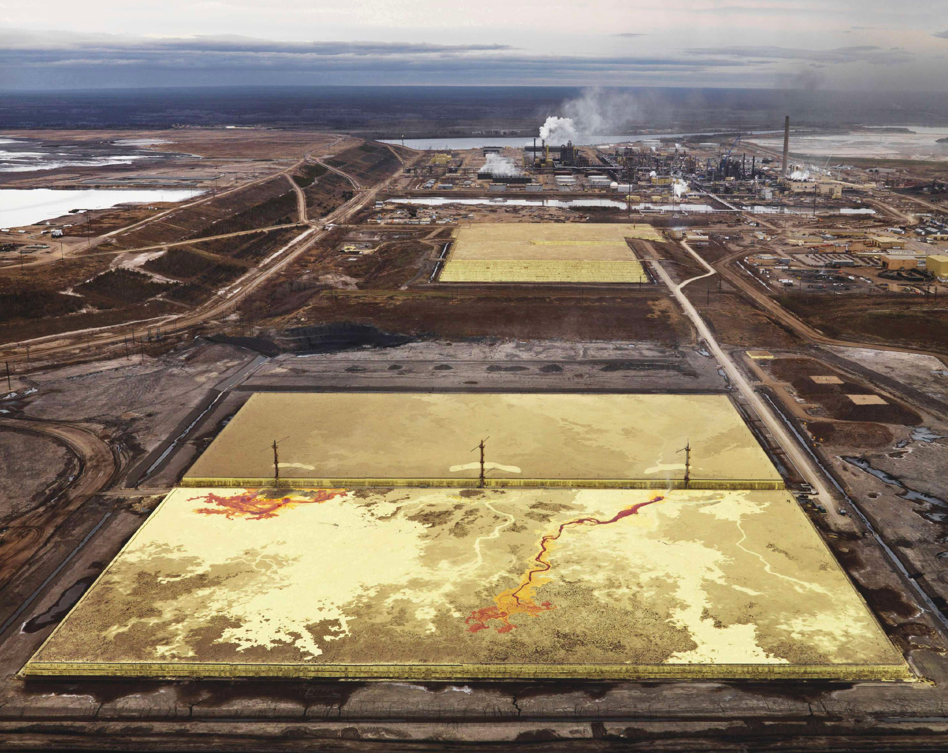 Edward Burtynski Photographie Alberta Oil Sands No6 Fort McMurray Alberta Canada 2007