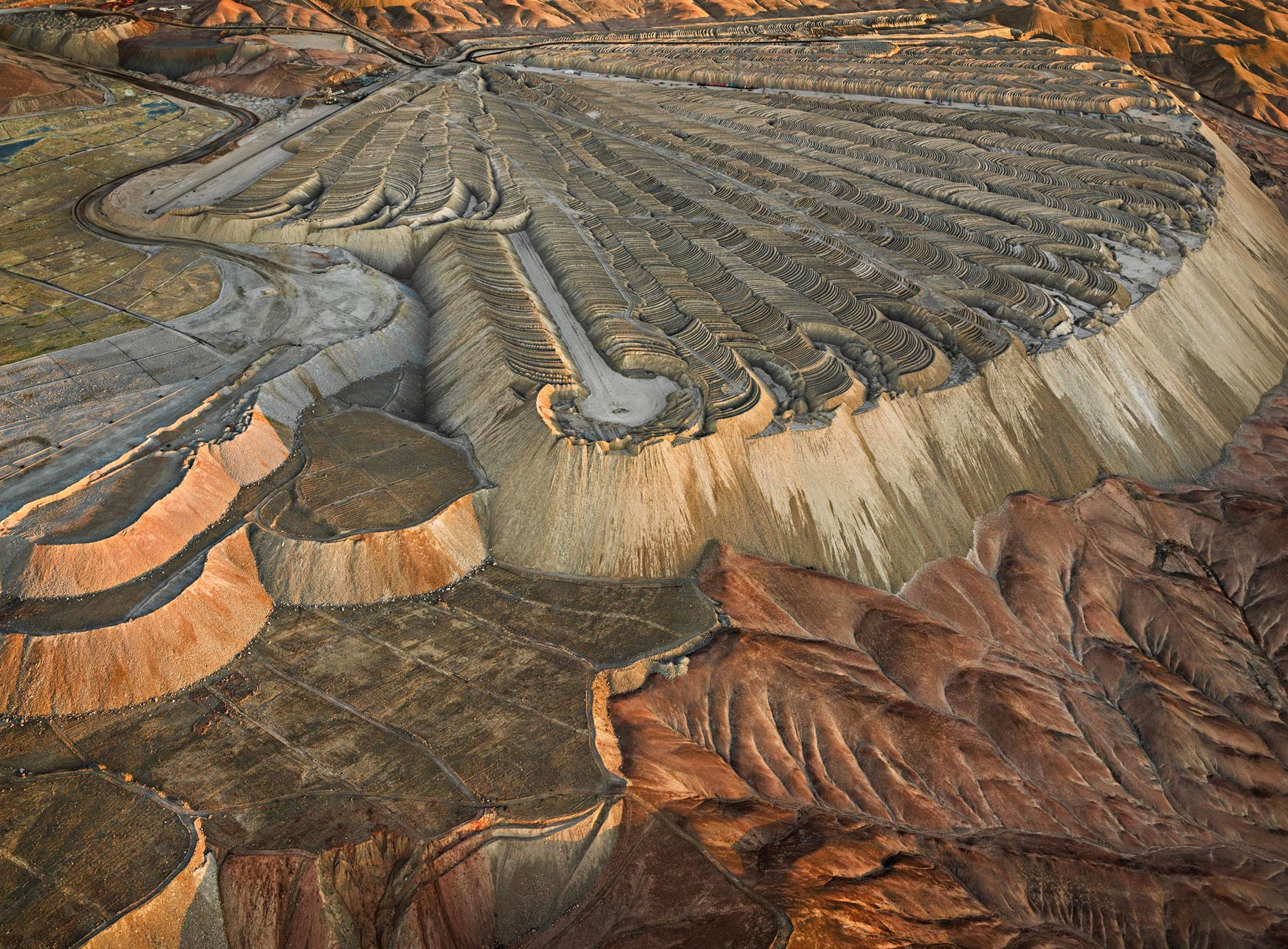 Edward Burtynsky Photographie Chuquicamata Copper Mine Overburden No2 Calama Chile 2017