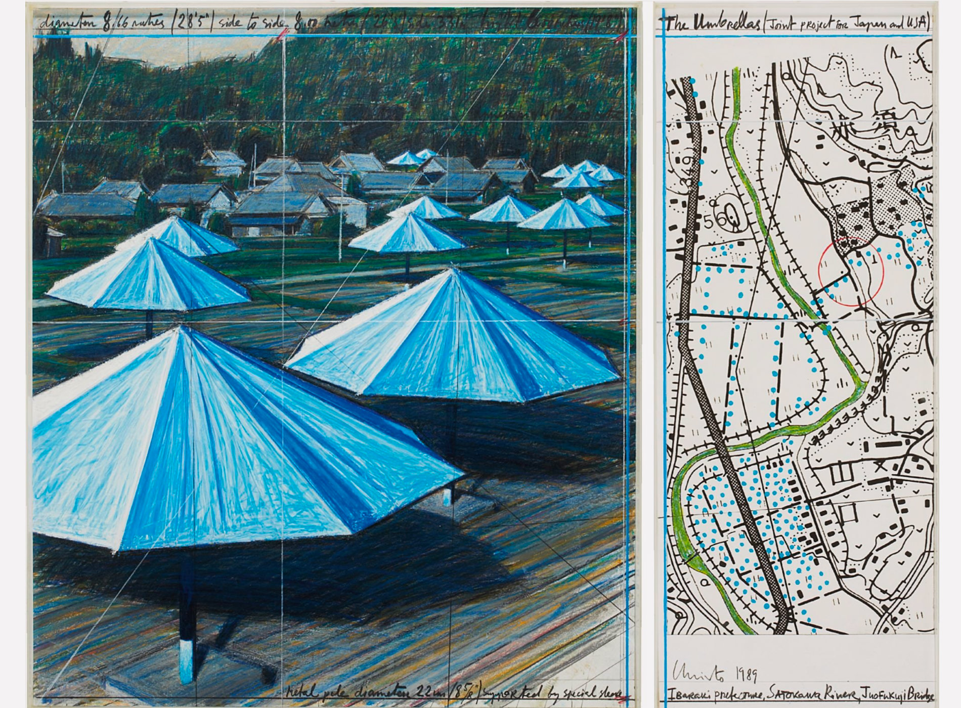 Christo. The Umbrellas, 1989