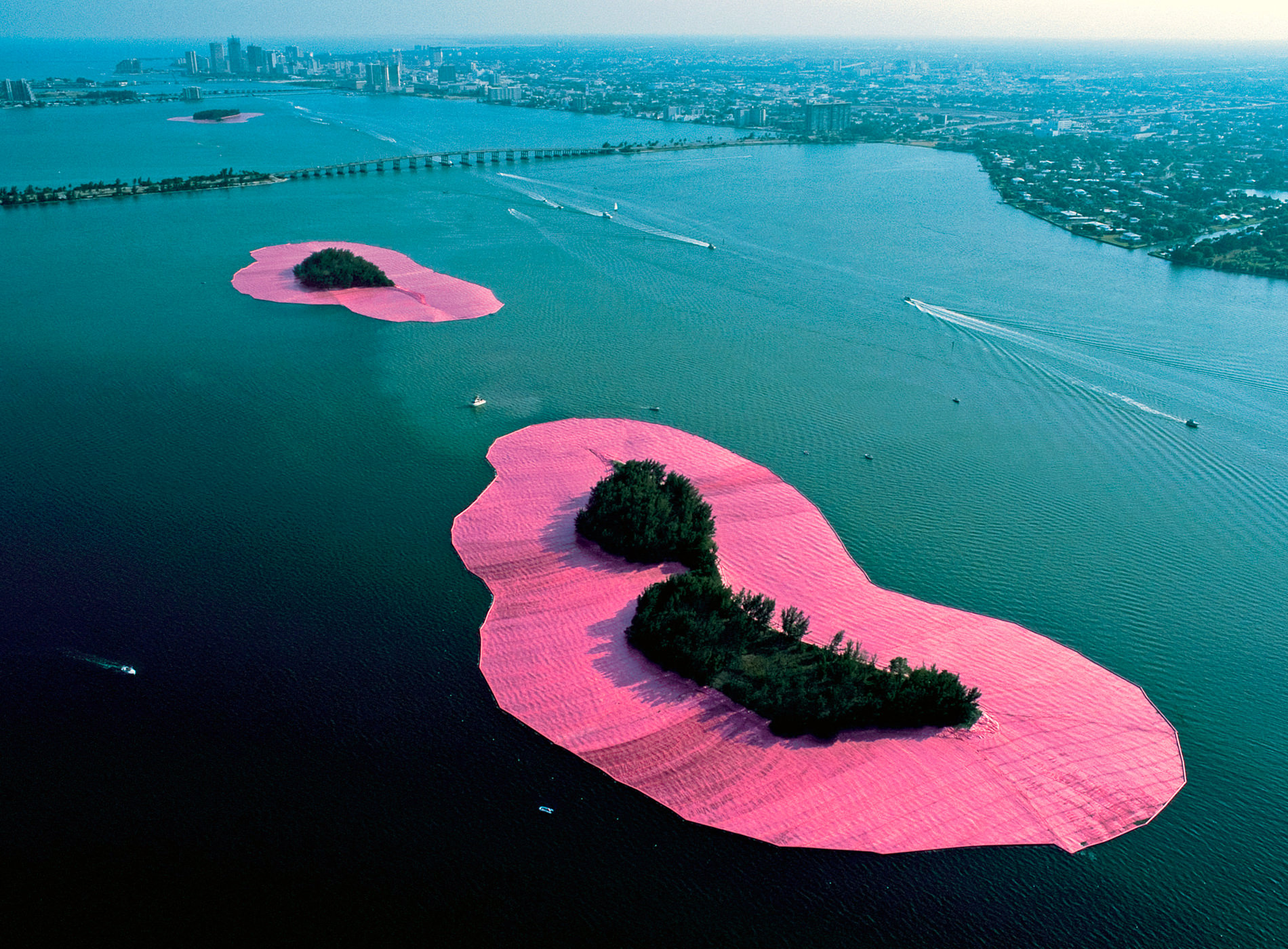 Christo. Surrounded Islands, Project for Biscayne Bay, Greater Miami, Florida, 1983
