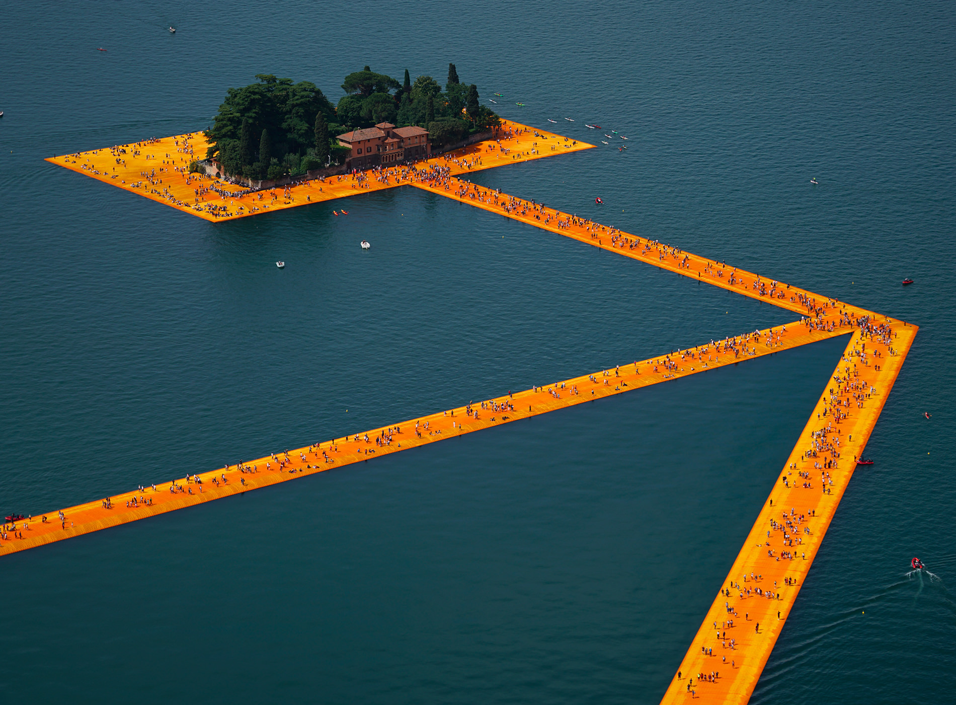 Christo. The Floating Piers, Lake Iseo, Italy, 2014-2016