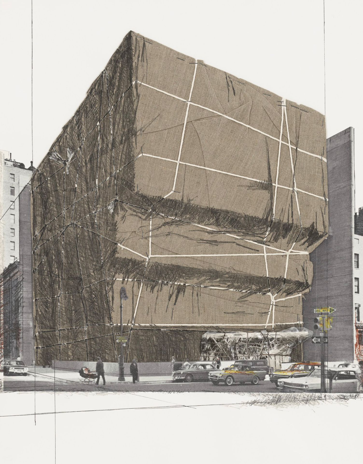 Christo. Not Realized Projects Portfolio: Whitney Museum of American Art, Packed, Project for New York, 1971