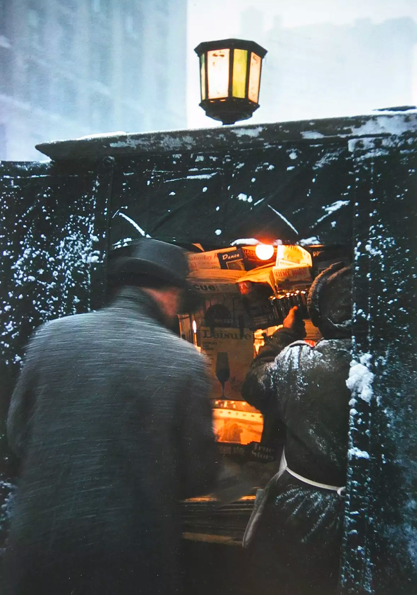 Saul Leiter Early Color Newspaper Kiosk 1955