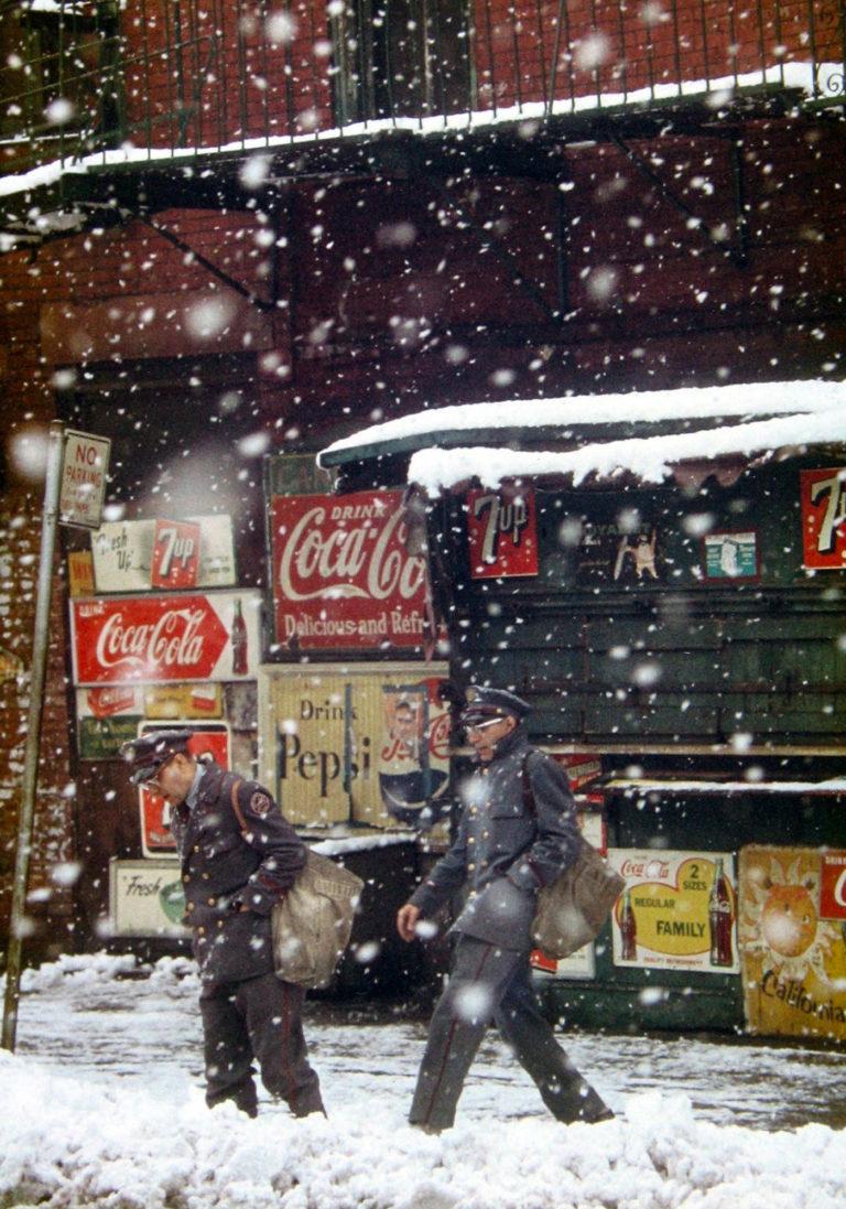 Saul Leiter Postmen 1952