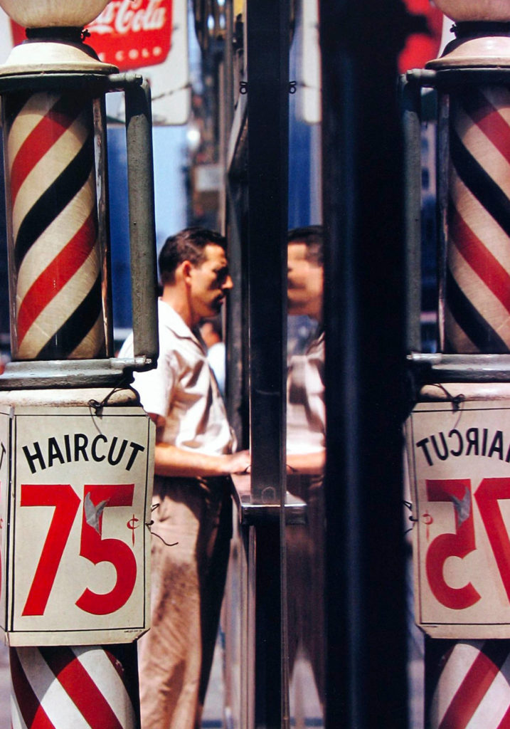Saul Leiter Viewing Room Scene Haircut 1956