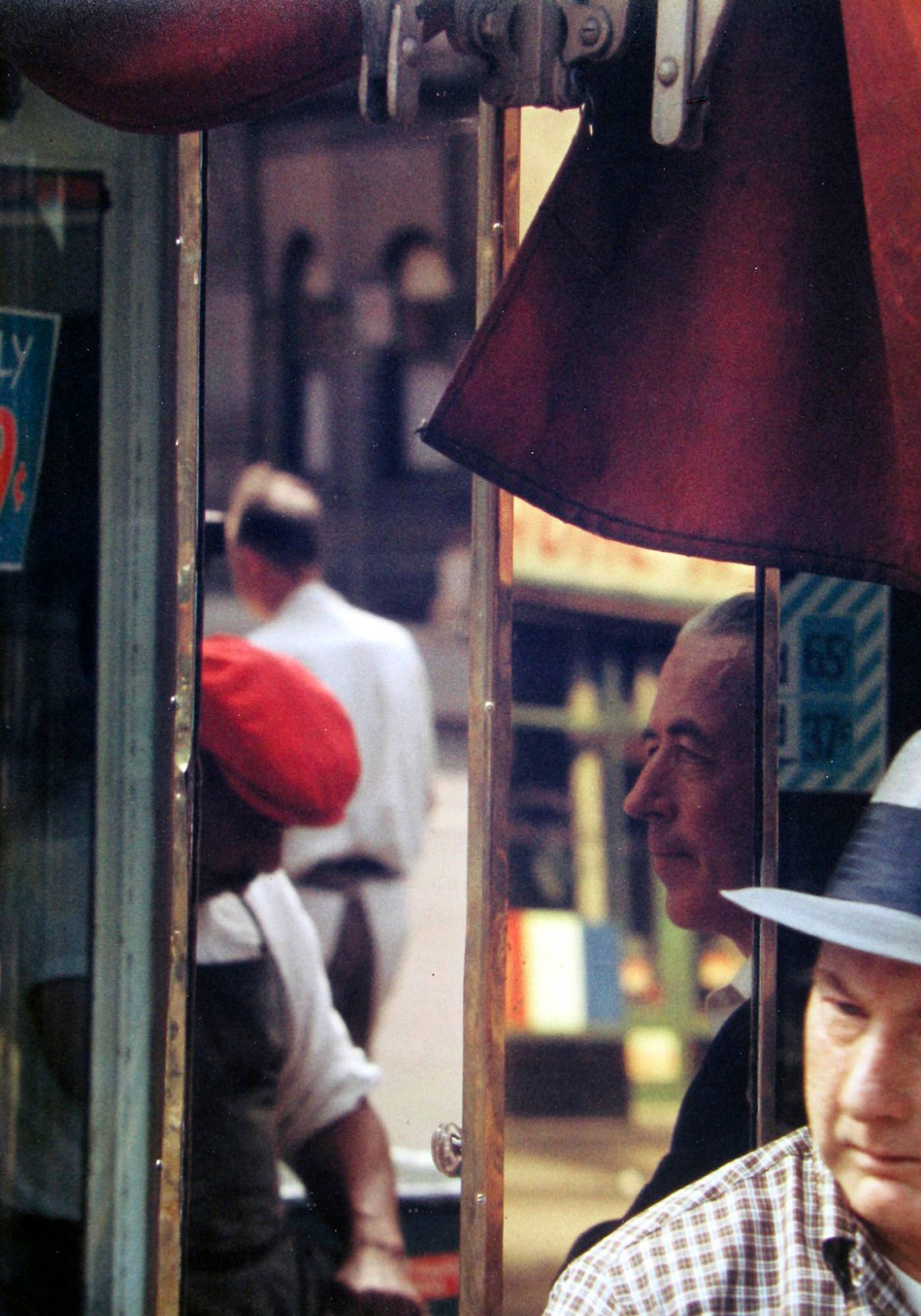 Saul Leiter Viewing Room Scene Reflection 1958