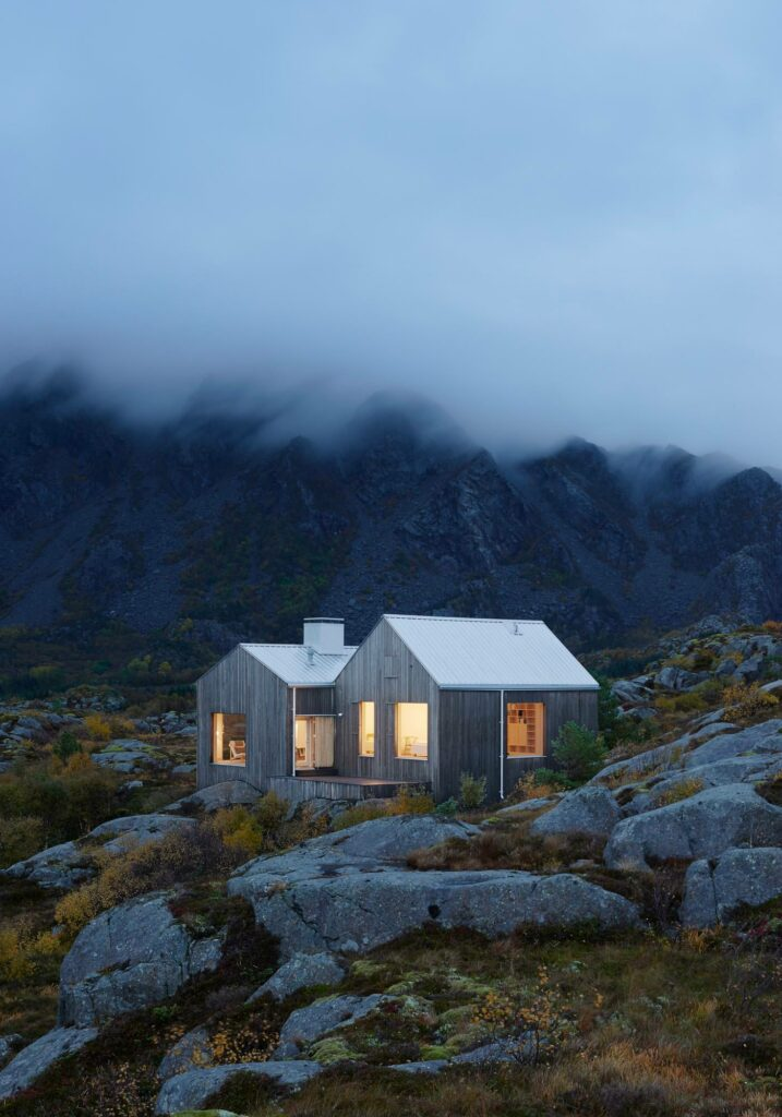 Cottage d'écrivains, Vega Cottage, Archipel de Vega, Norvège, Kolman Boye Architects