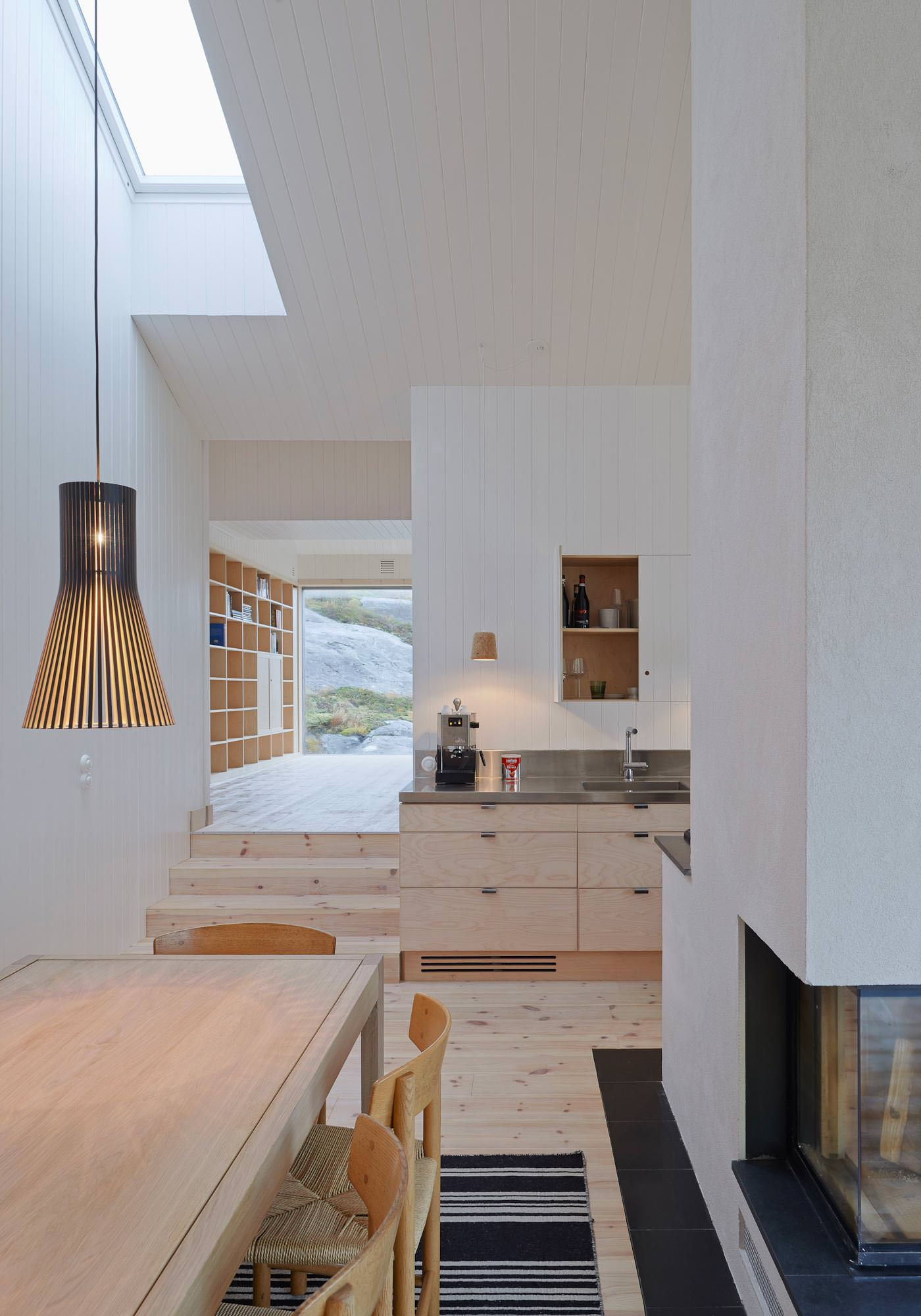 Maison d'écrivains, Vega Cottage, Archipel de Vega Norvège, Kolman Boye Architects