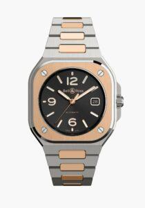 Bell & Ross Nouveaux Modèles BR05 Automatic Steel & Gold Steel Bracelet — Cover